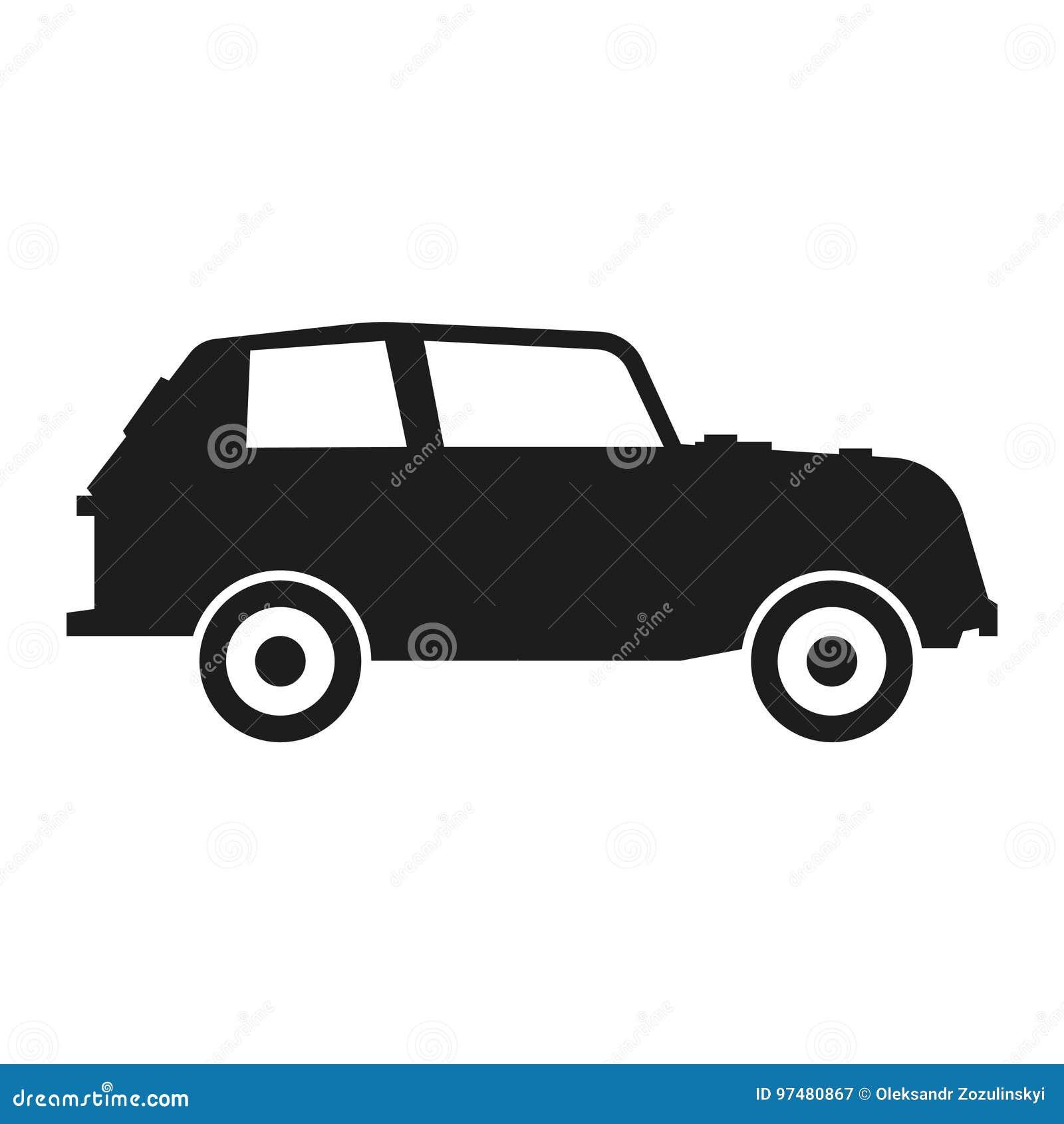 Hatchback Silhouette Stock Illustration Illustration Of Auto 97480867