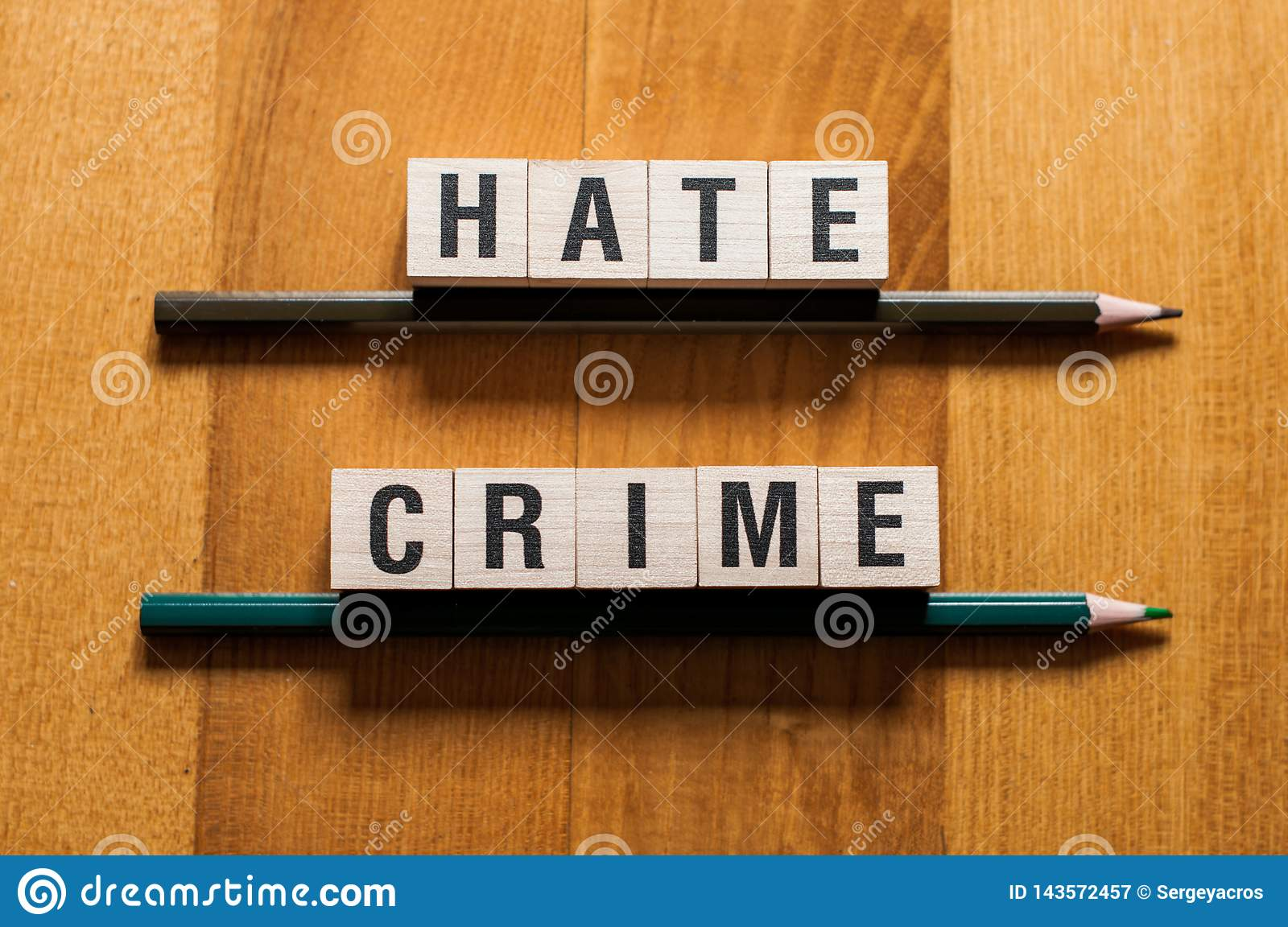 Hate crime words concept