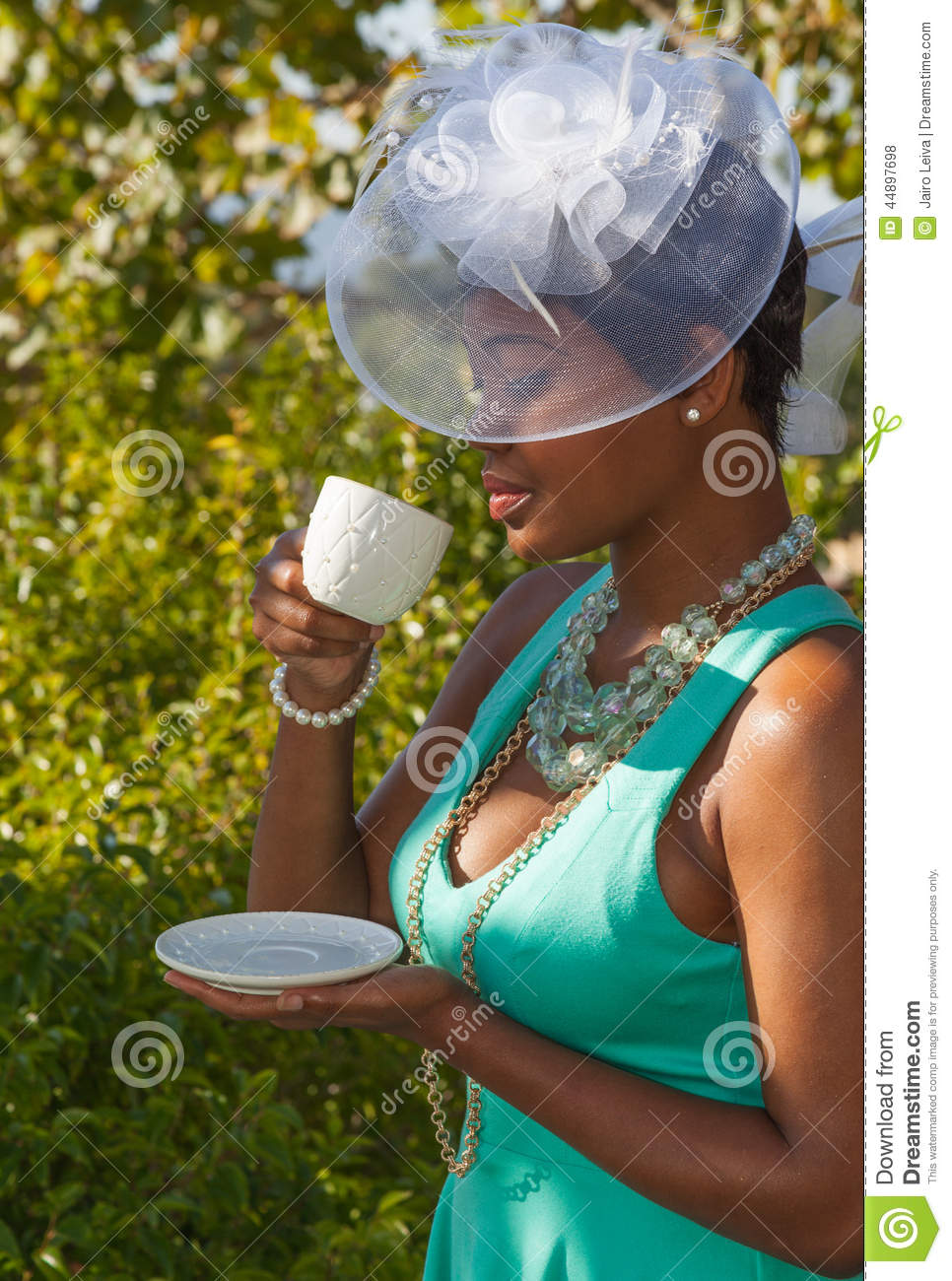 Hats And High Tea Stock Photo Image Of Ladies Glamour