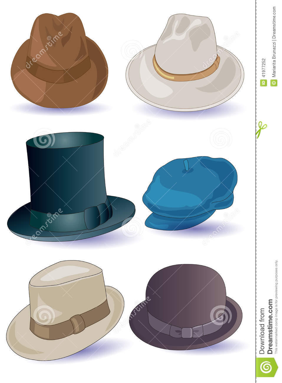 Hats for Men stock vector. Illustration of rodeo e6da695200e3