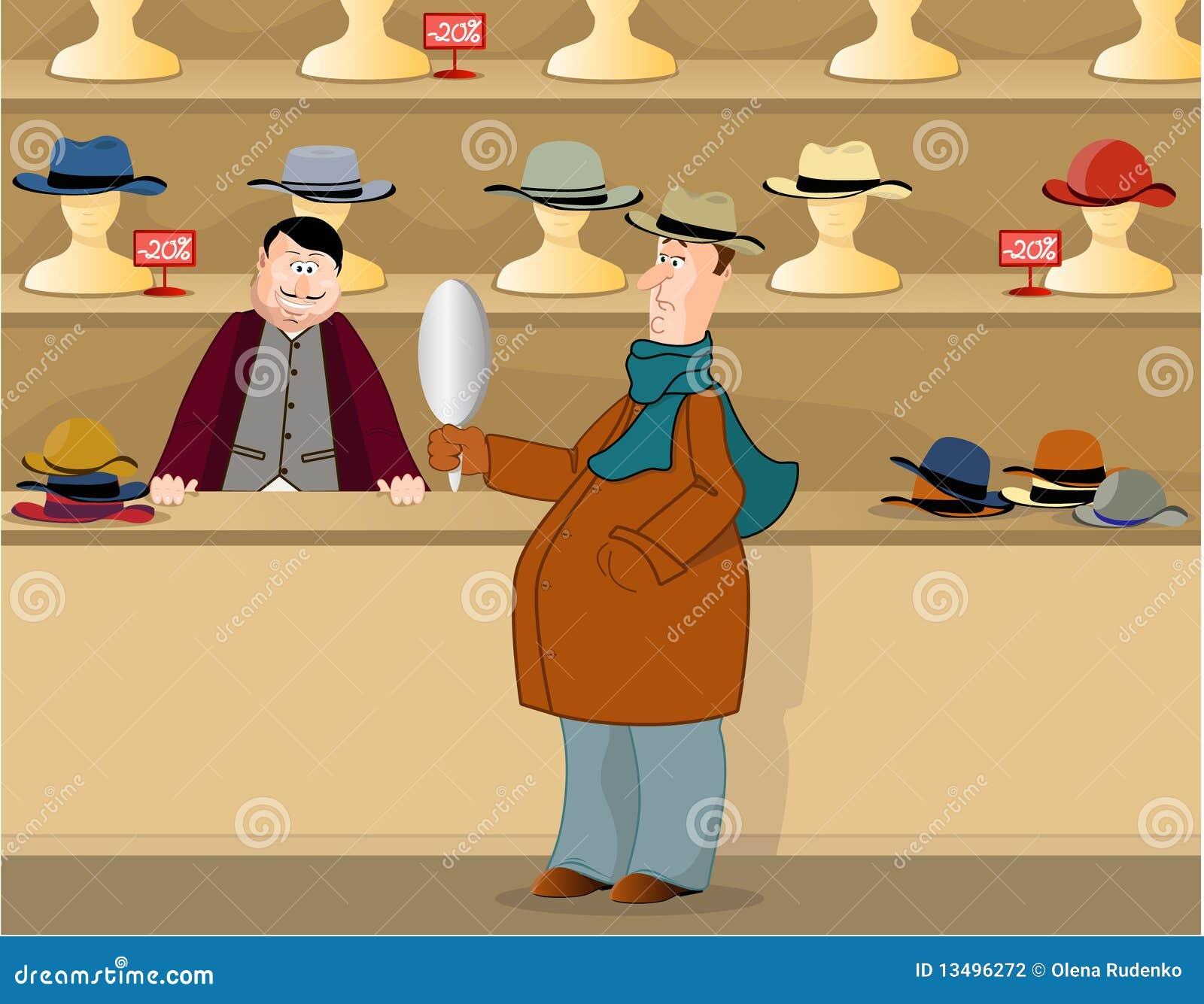 Hattar shoppar