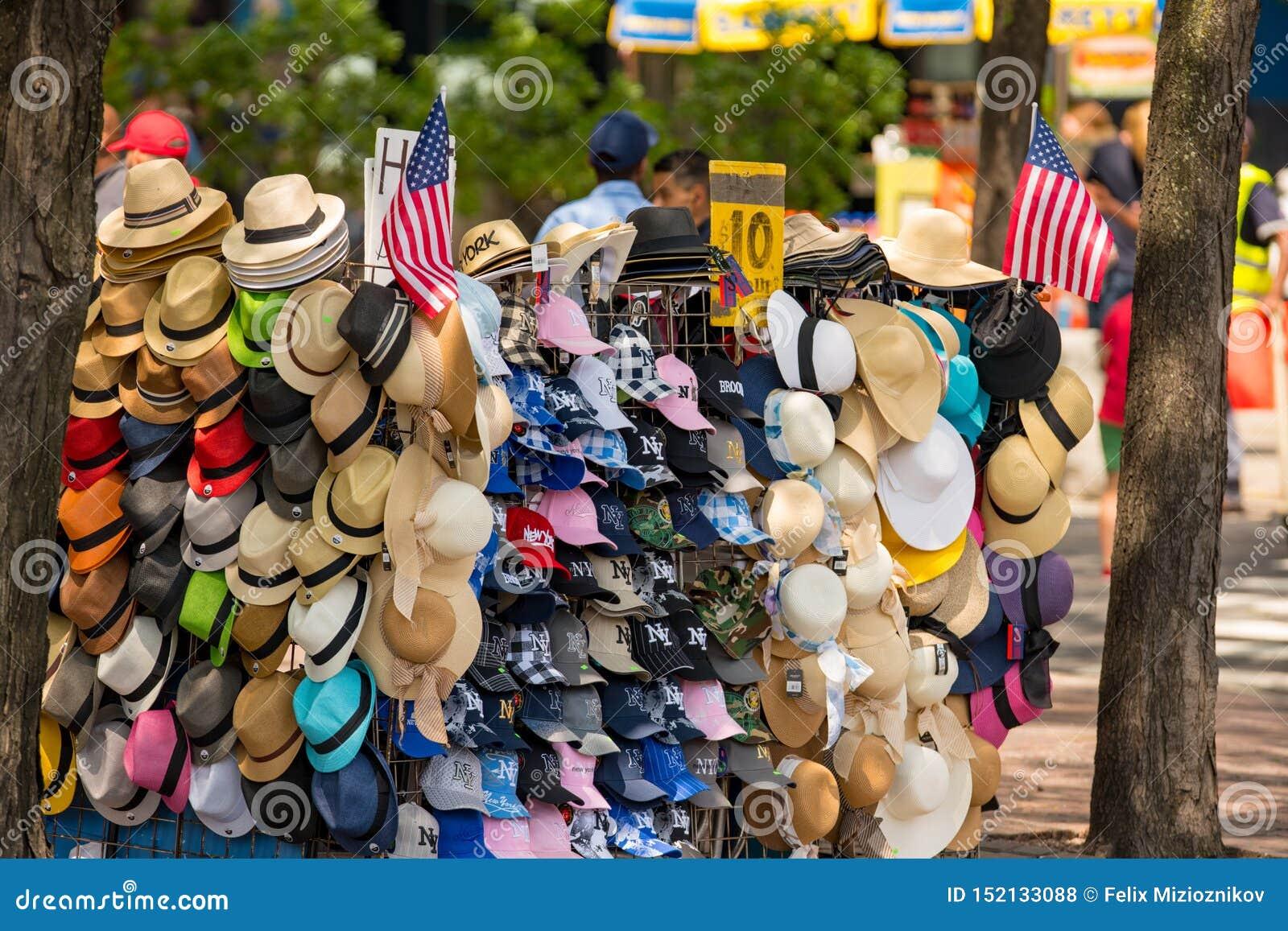 Hattar som är till salu i New York
