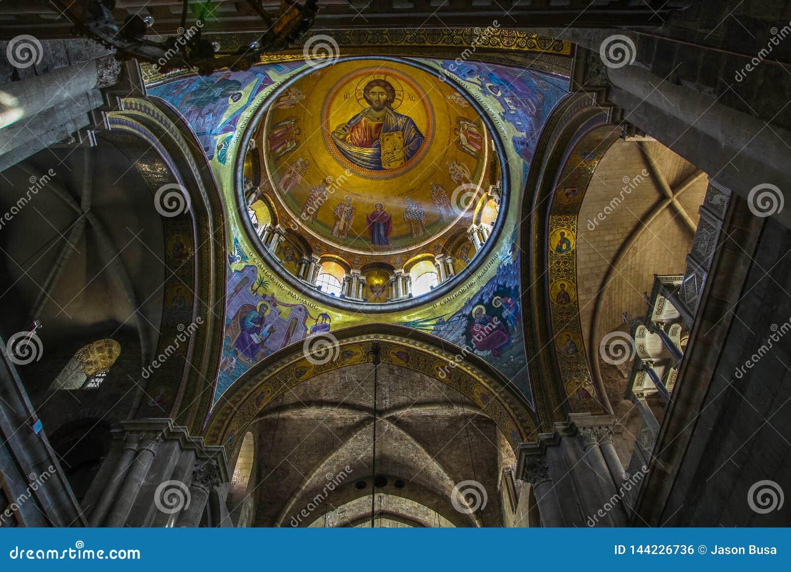 Haube in der Kirche des heiligen Grabes in der alten Stadt von Jerusalem