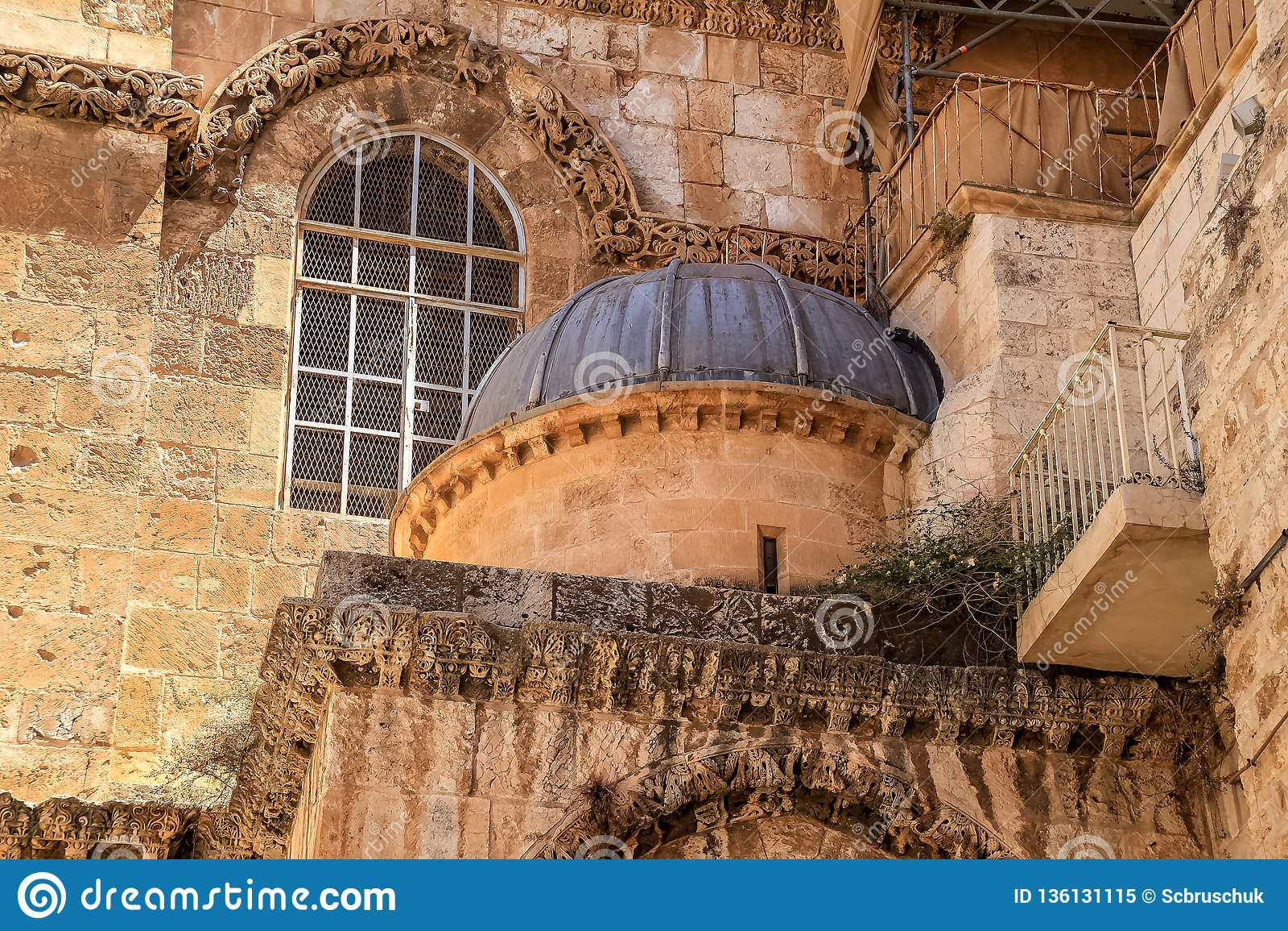 Haube eingebettet in Kirche des heiligen Grabes, Jerusalem