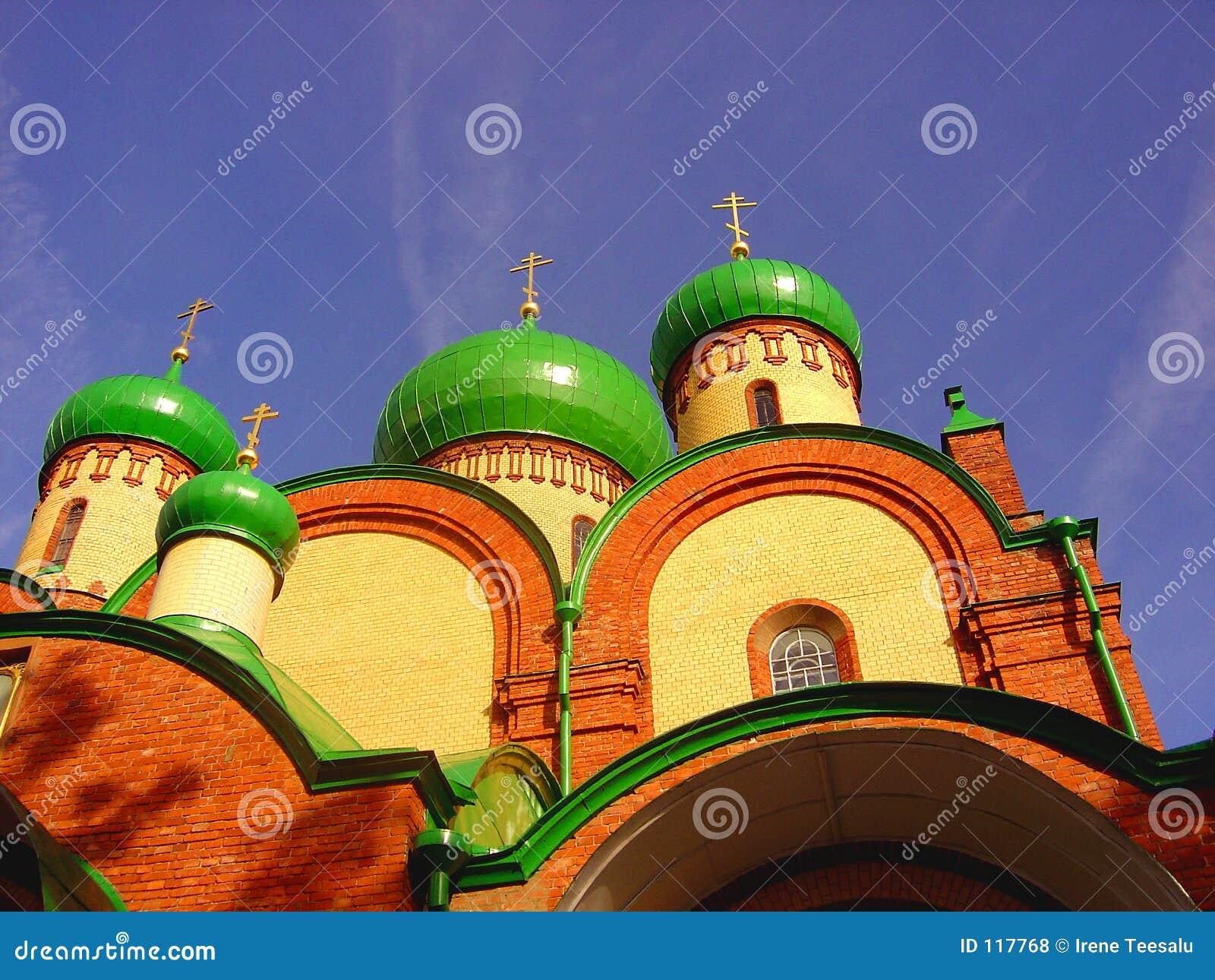 Hauben einer russischen Abtei