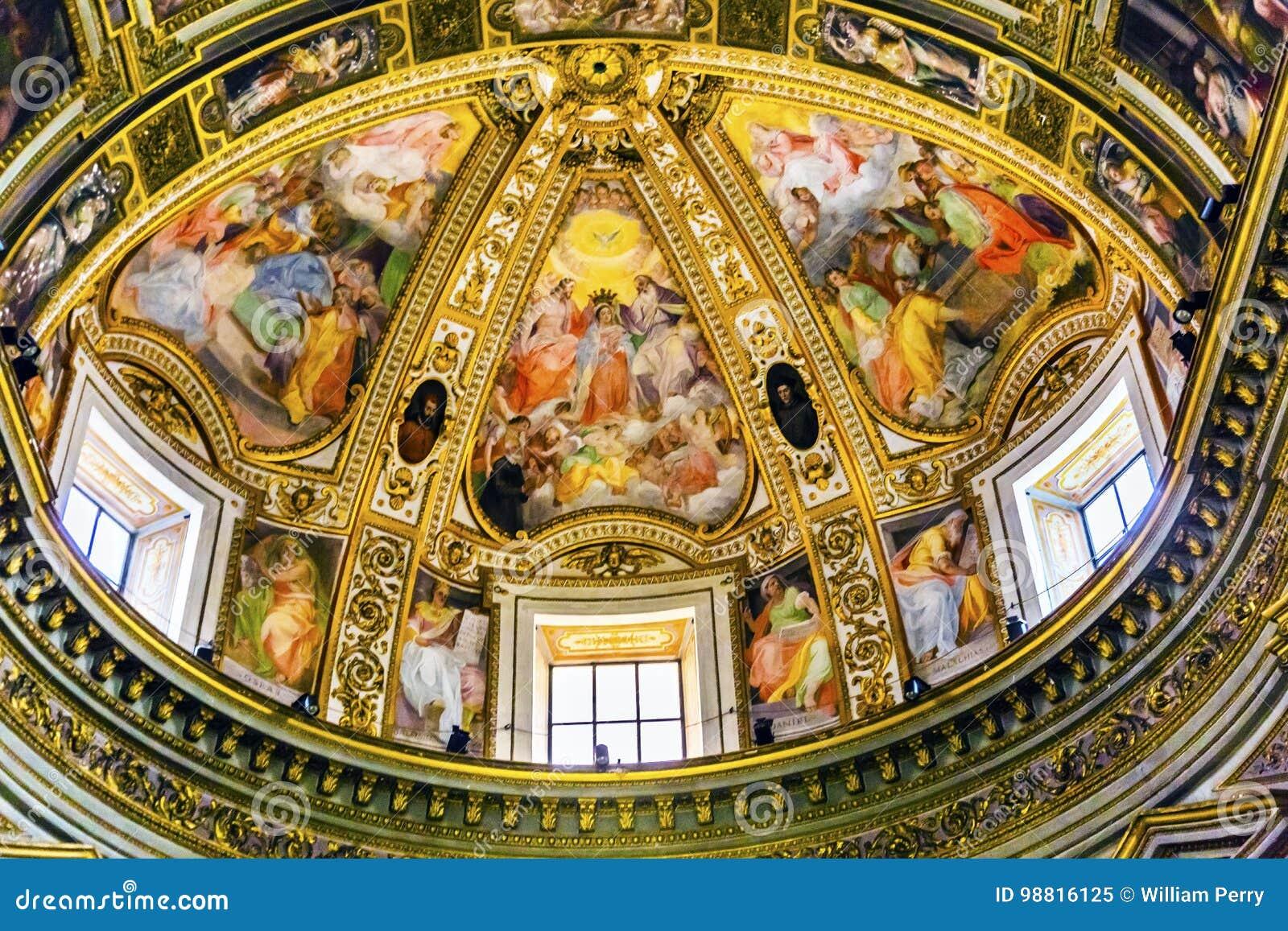 Hauben-Freskos Chiesa San Marcello al Corso Church Rome Italy