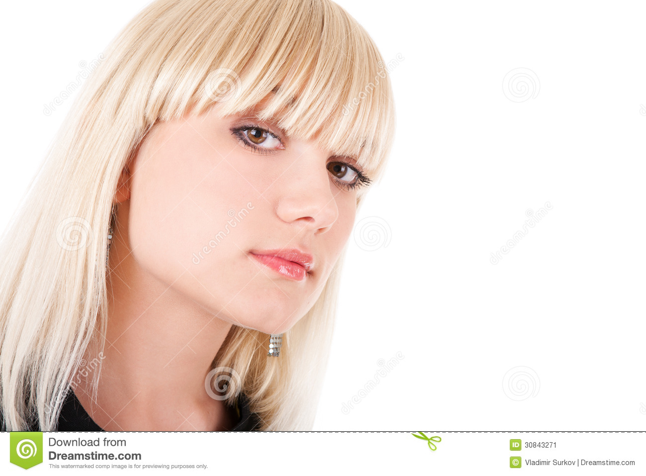 Haughty Look Of The Girl Stock Image - Image: 30843271