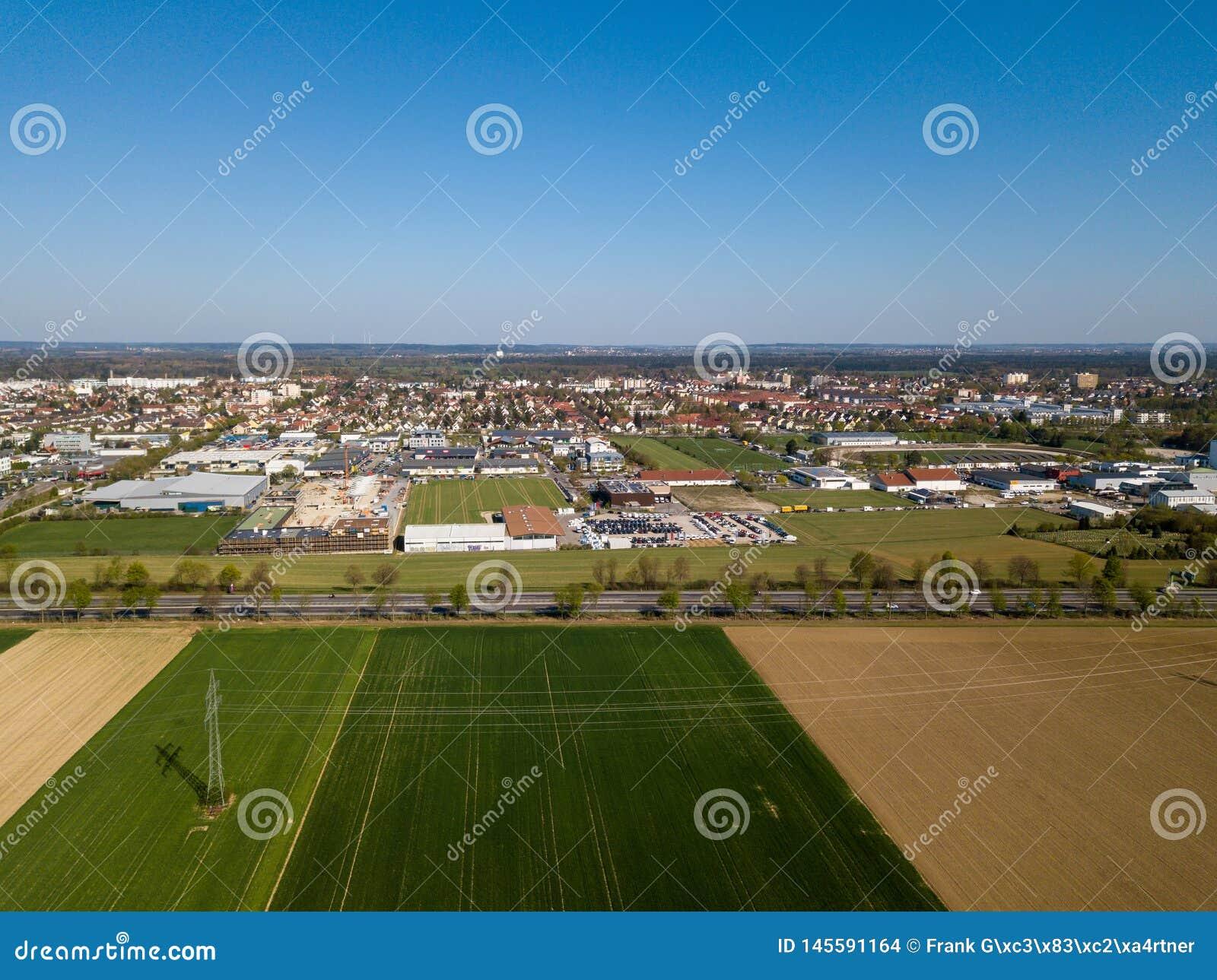 Haunstetten, a suburb of Augsburg in Germany