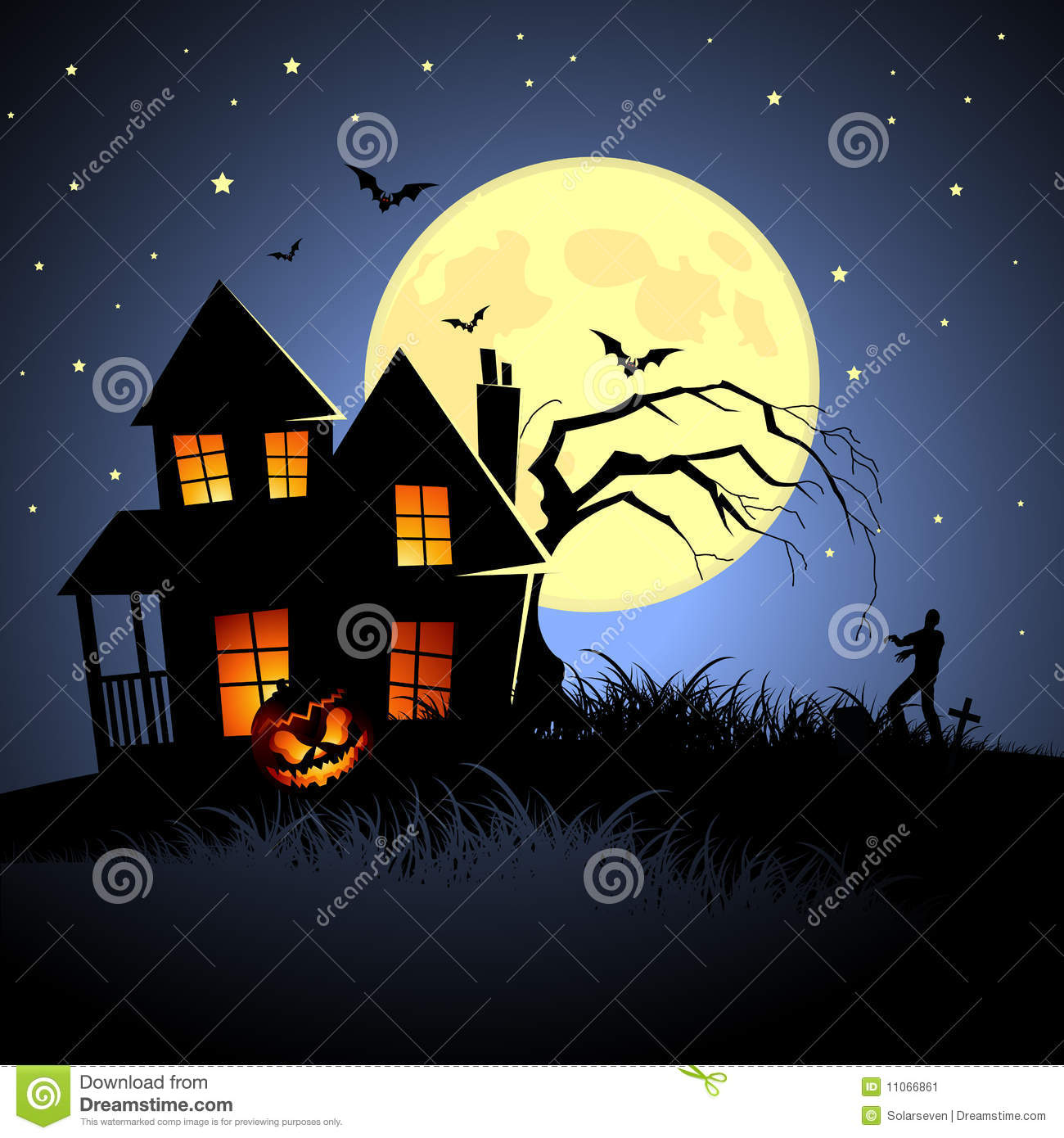 halloween haunted house illustration - Halloween House Pictures