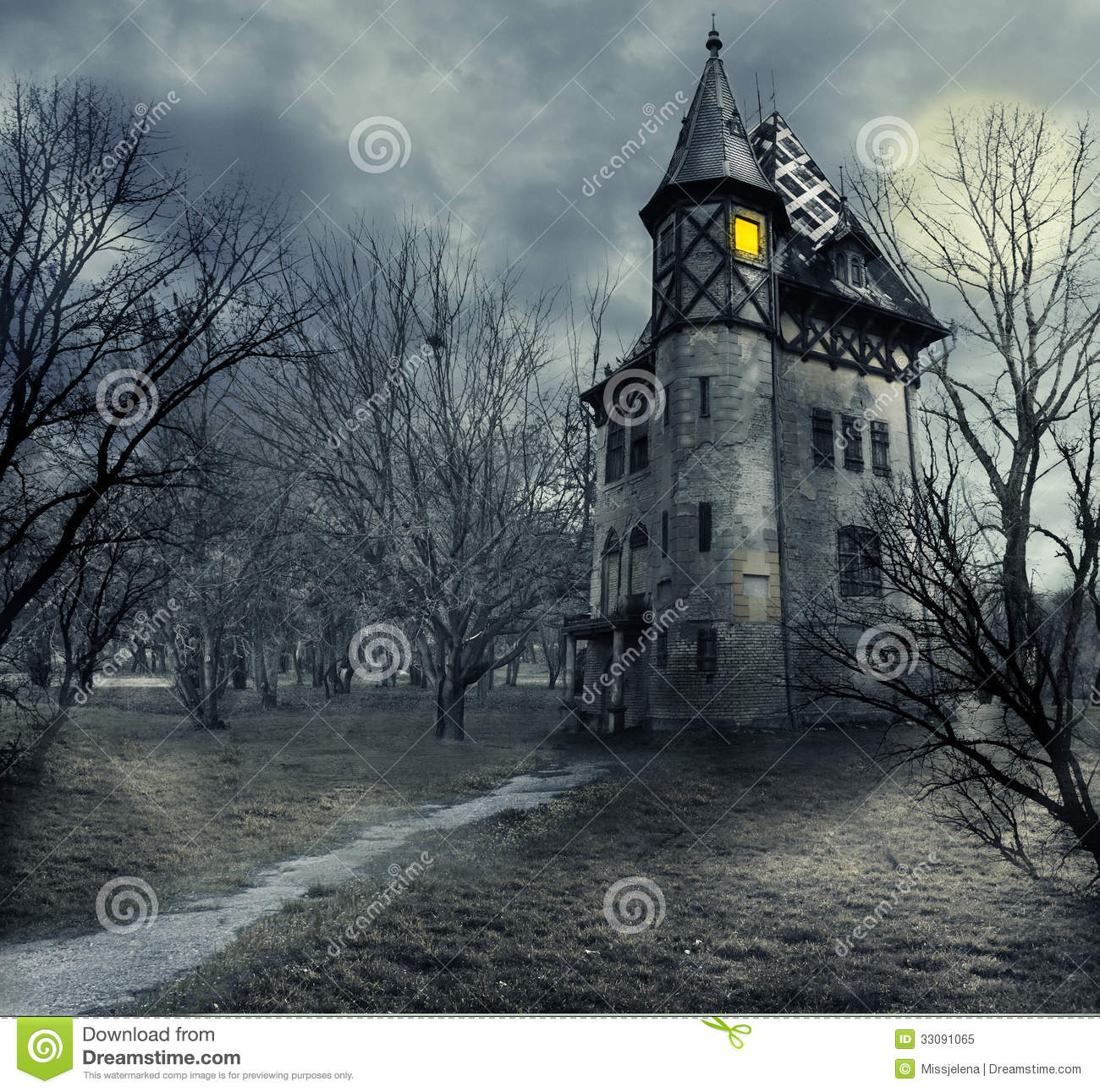 Haunted House Royalty Free Stock Photo Image 33091065