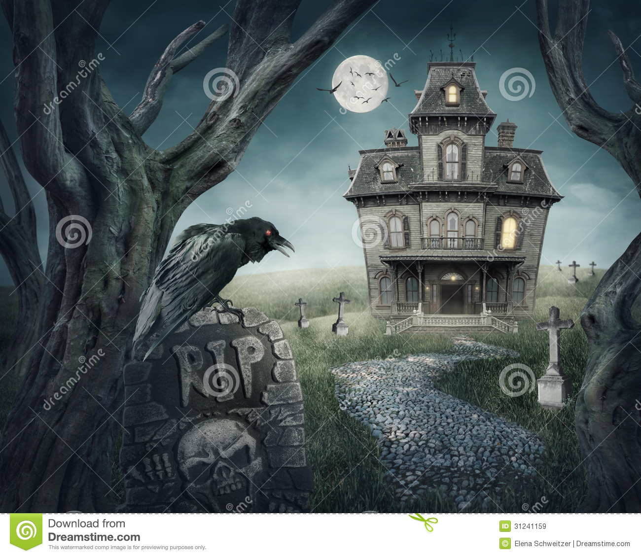 Haunted House Royalty Free Stock Images Image 31241159