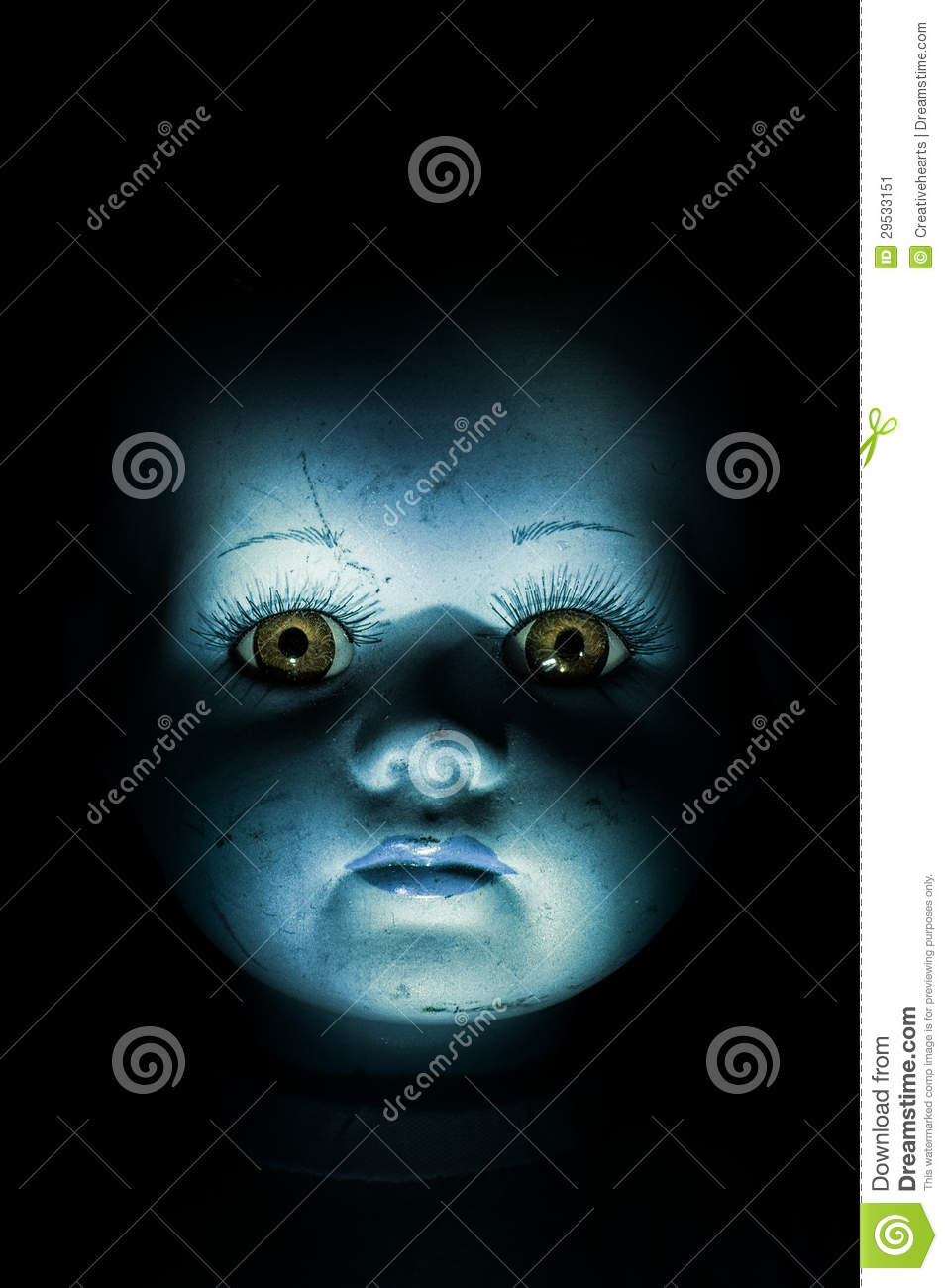 Haunting Child s Doll Face