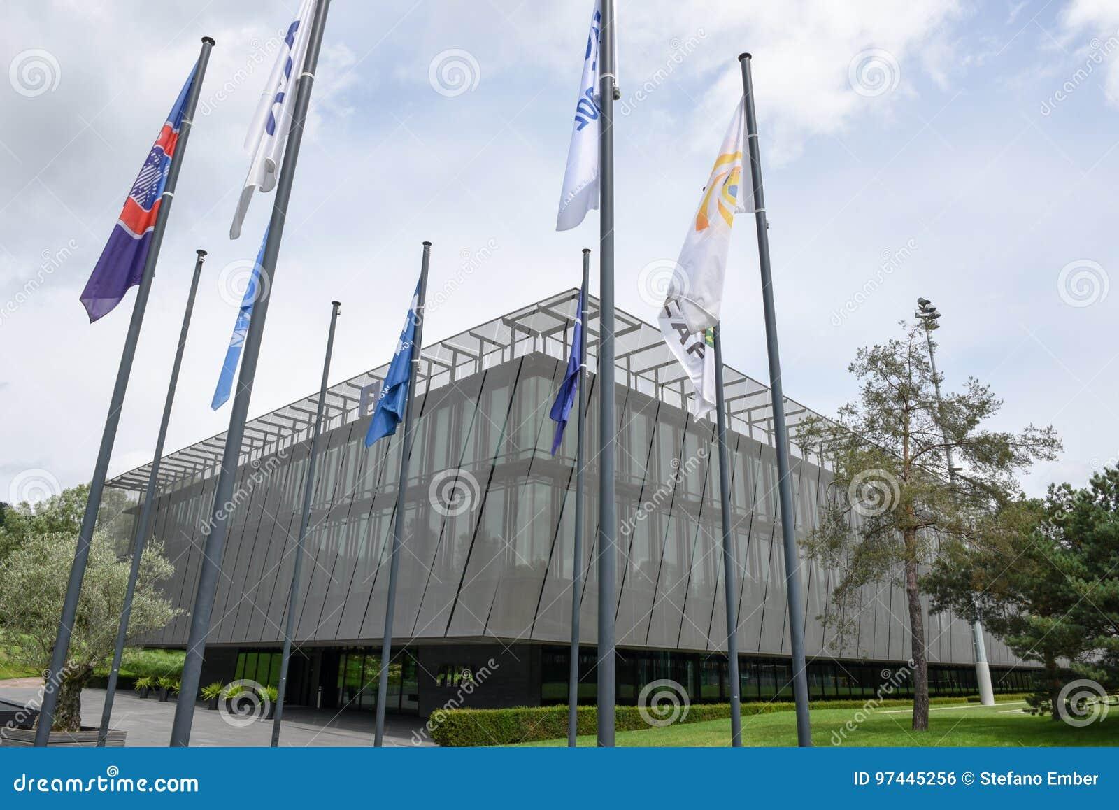 Hauptsitze von FIFA in Zürich auf der Schweiz