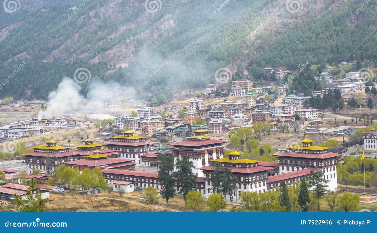 Hauptstadt Thimphus Des Bhutan Tallandes Stockbild Bild Von Bhutan Tallandes 79229661