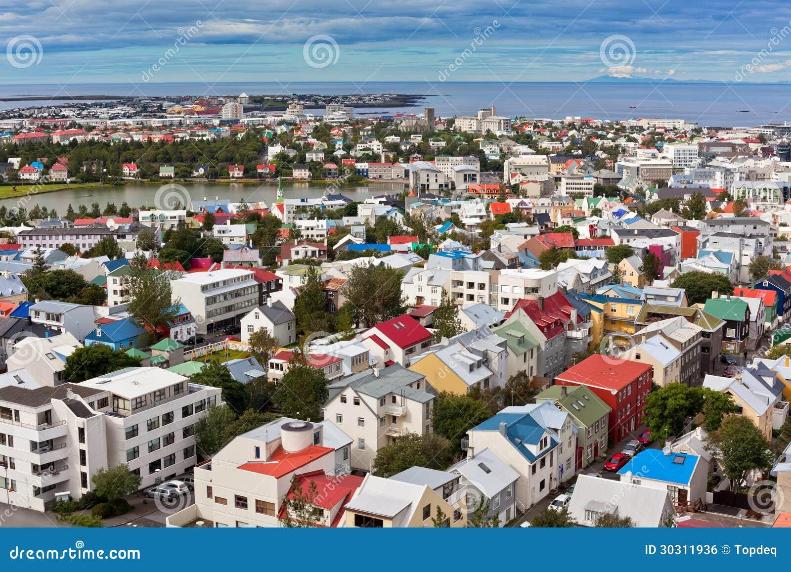 hauptstadt von island reykjavik ansicht stockfoto bild 30311936. Black Bedroom Furniture Sets. Home Design Ideas