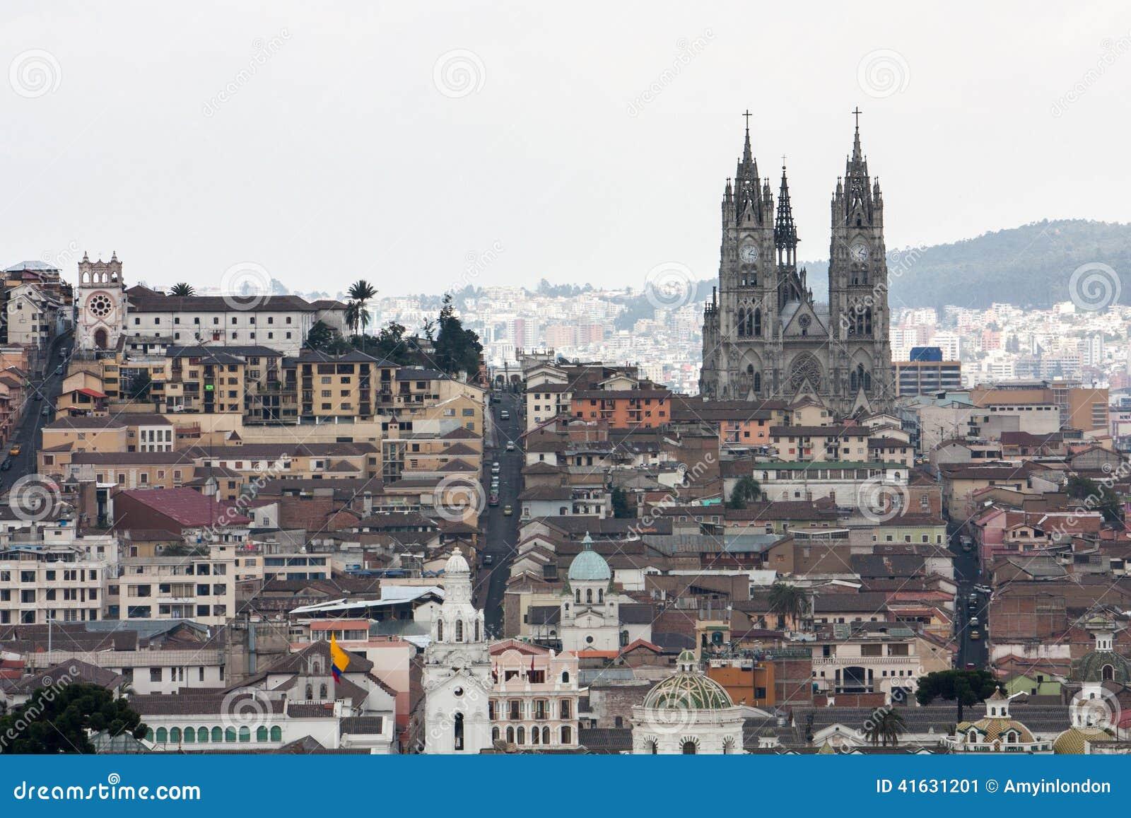 Hauptstadt von Quito Ecuador
