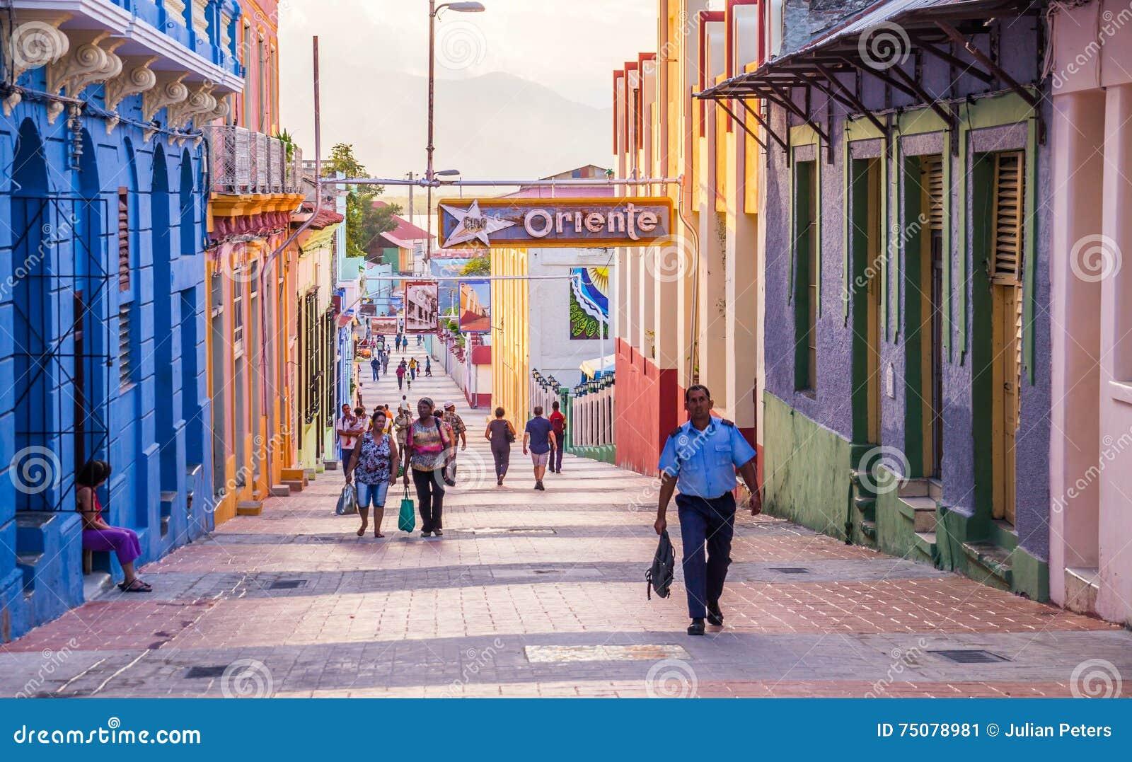 Hauptstraße von Santiago de Cuba