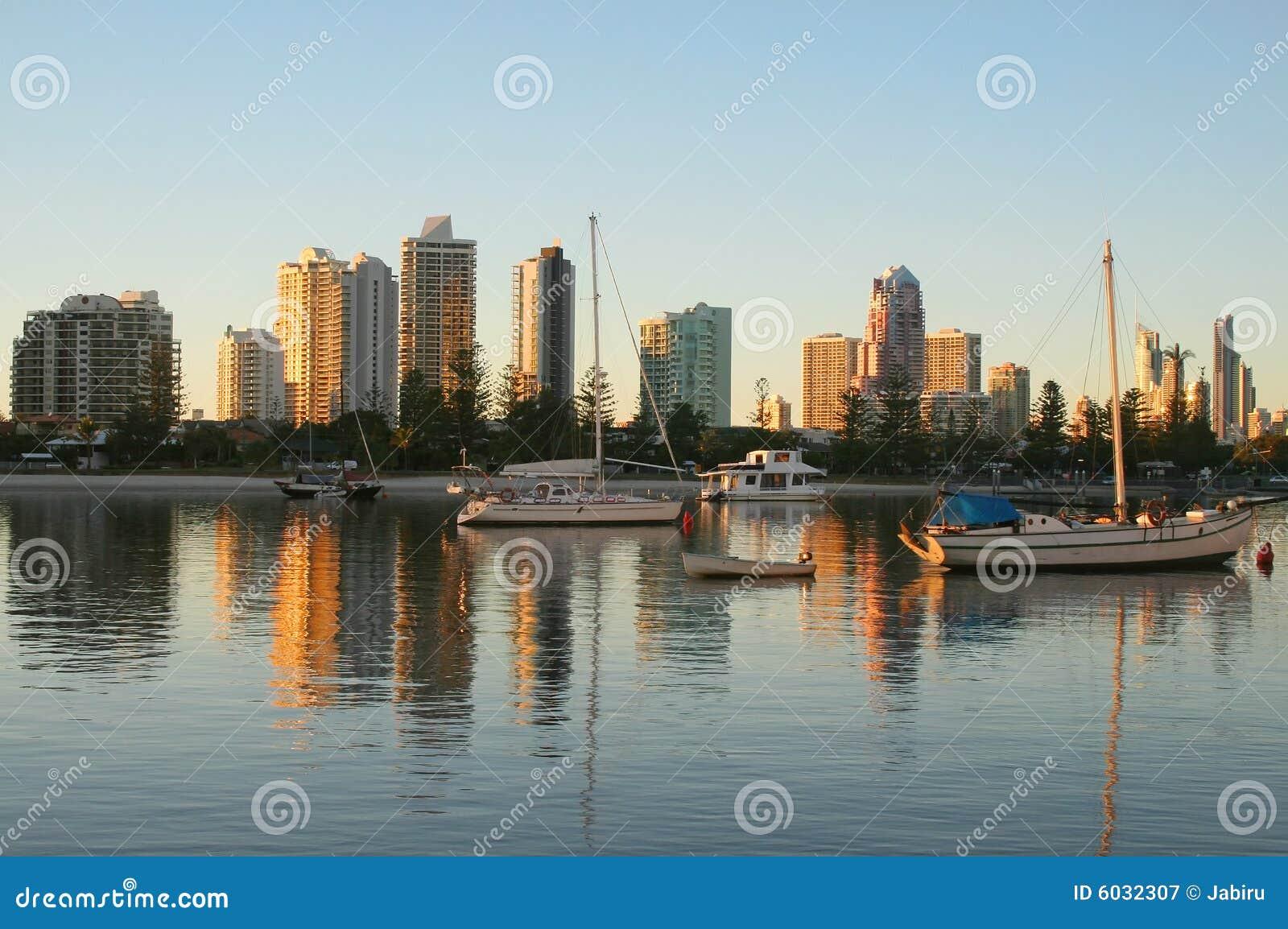 Hauptstrand Gold Coast Australien