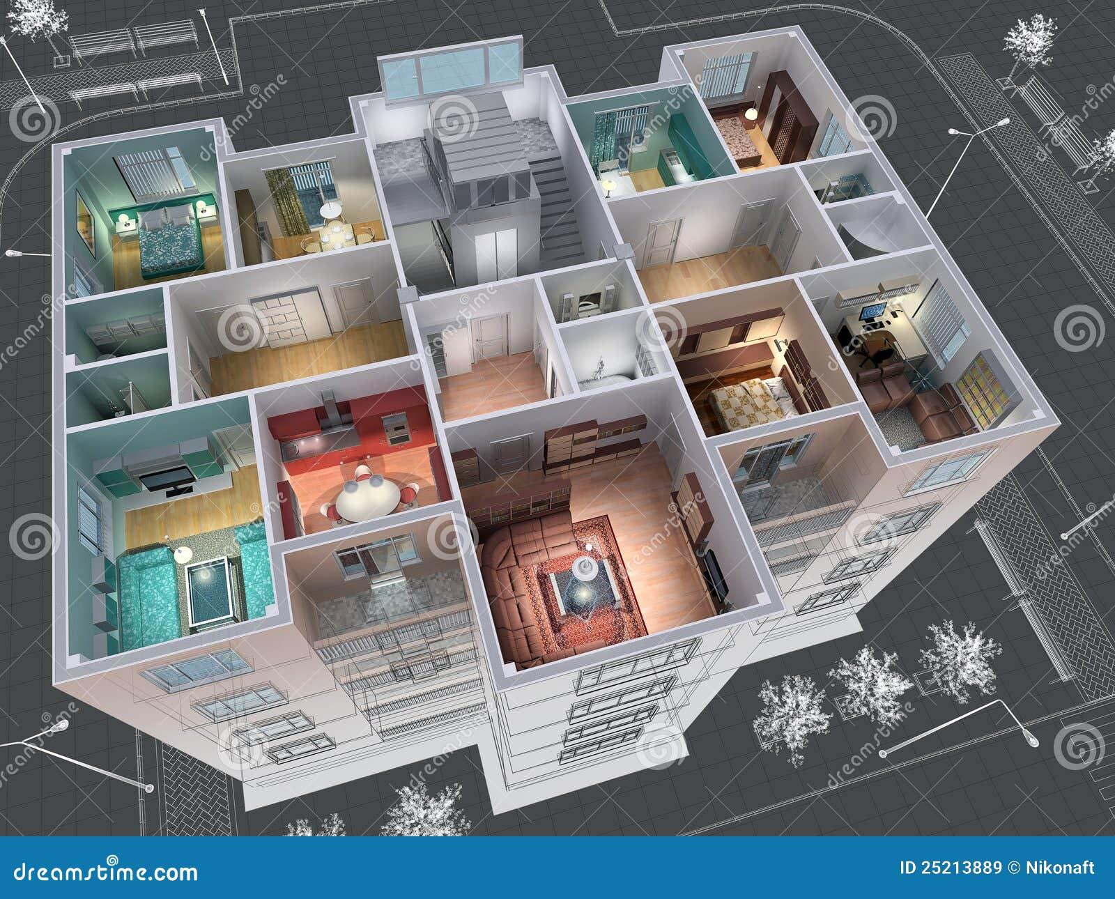 Fußboden Querschnitt ~ Haus stock abbildung illustration von fußboden kreuz