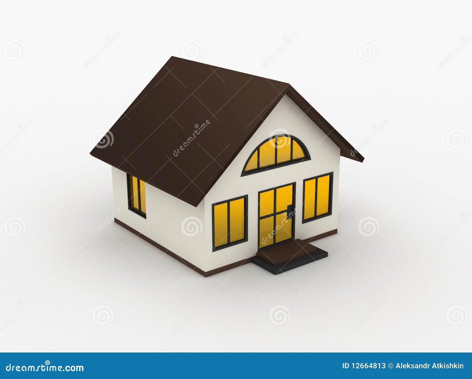 haus 3d stockfotos bild 12664813. Black Bedroom Furniture Sets. Home Design Ideas