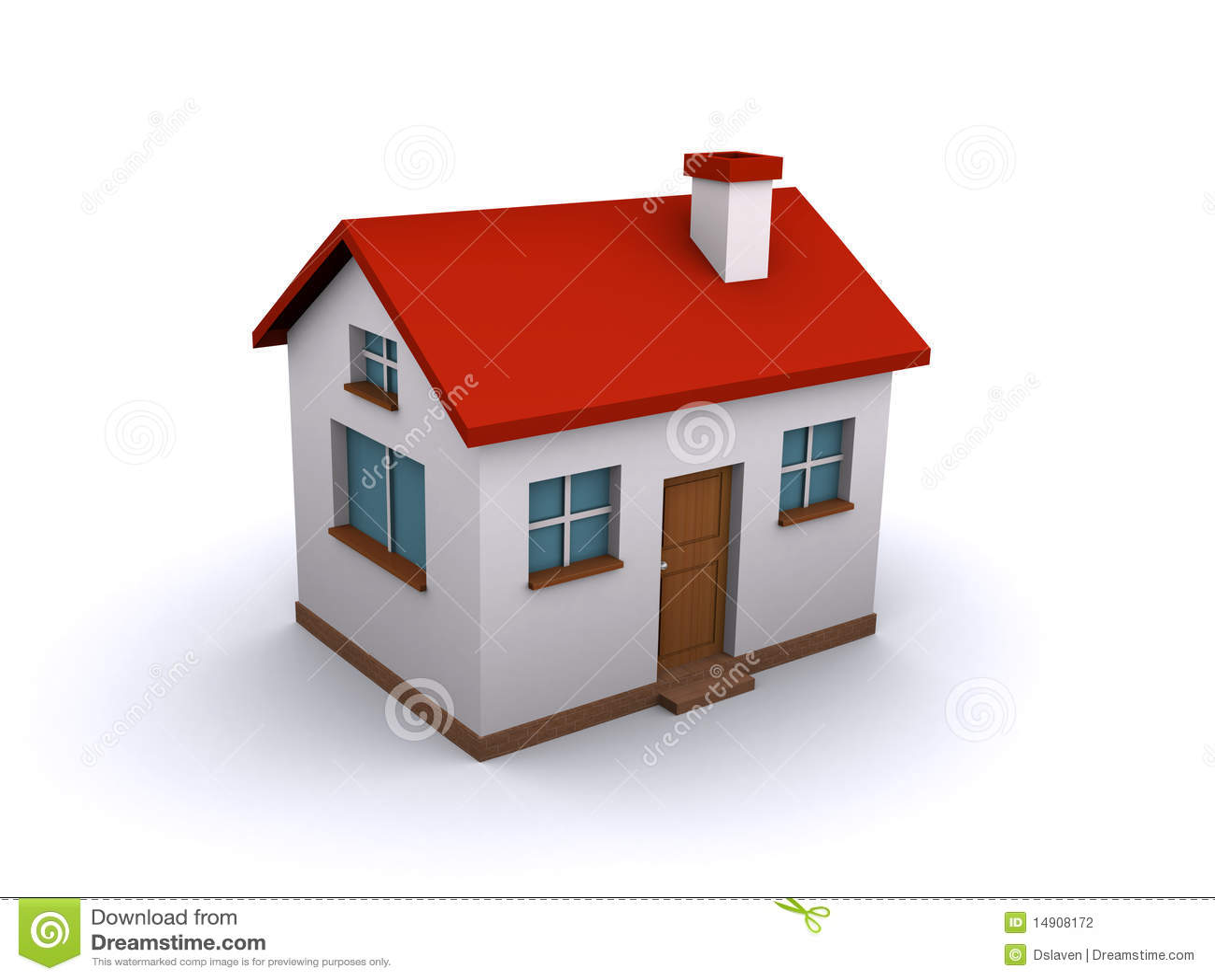haus 3d stockfotografie bild 14908172. Black Bedroom Furniture Sets. Home Design Ideas