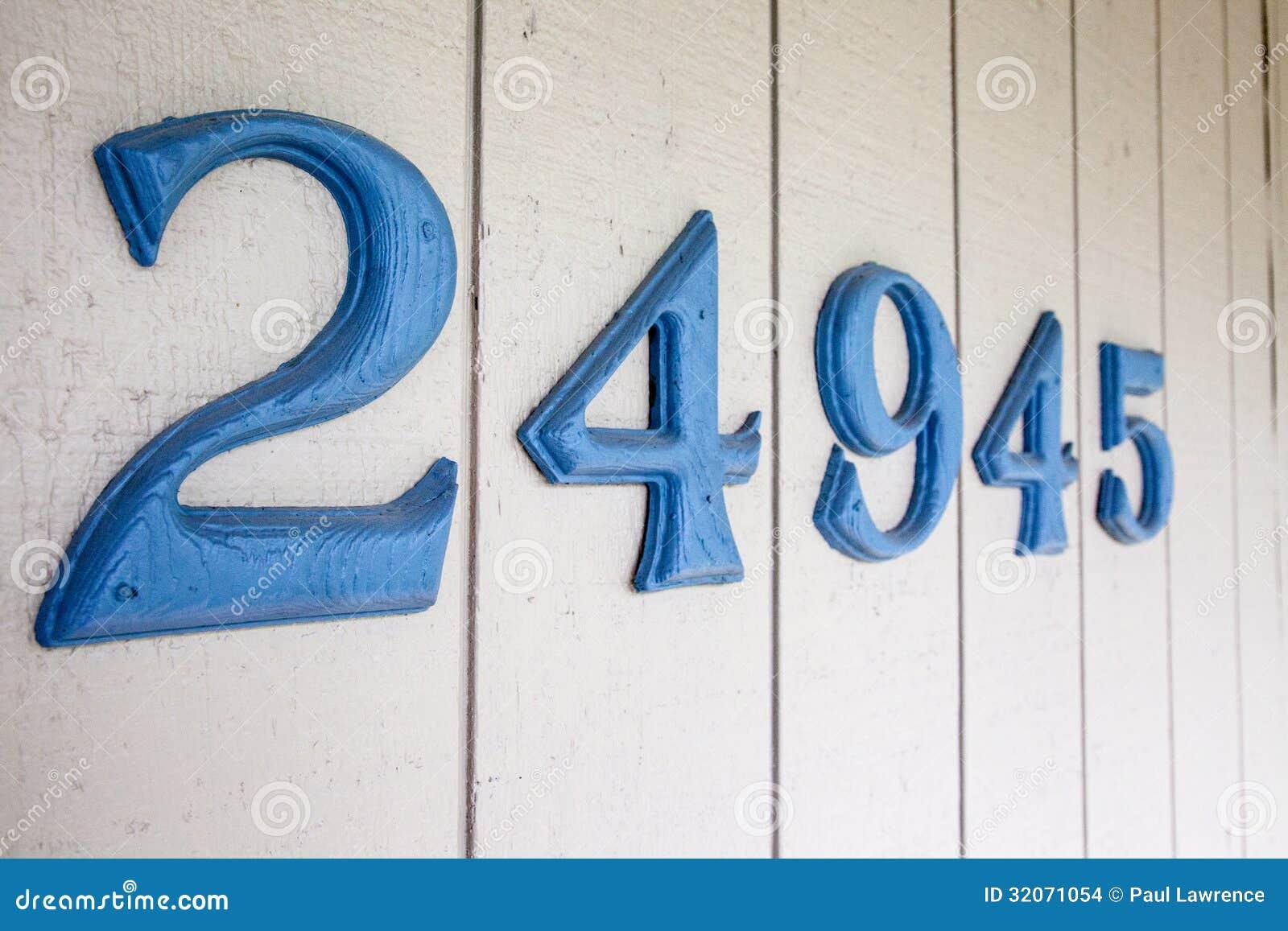 Haus-Adreßzahlen