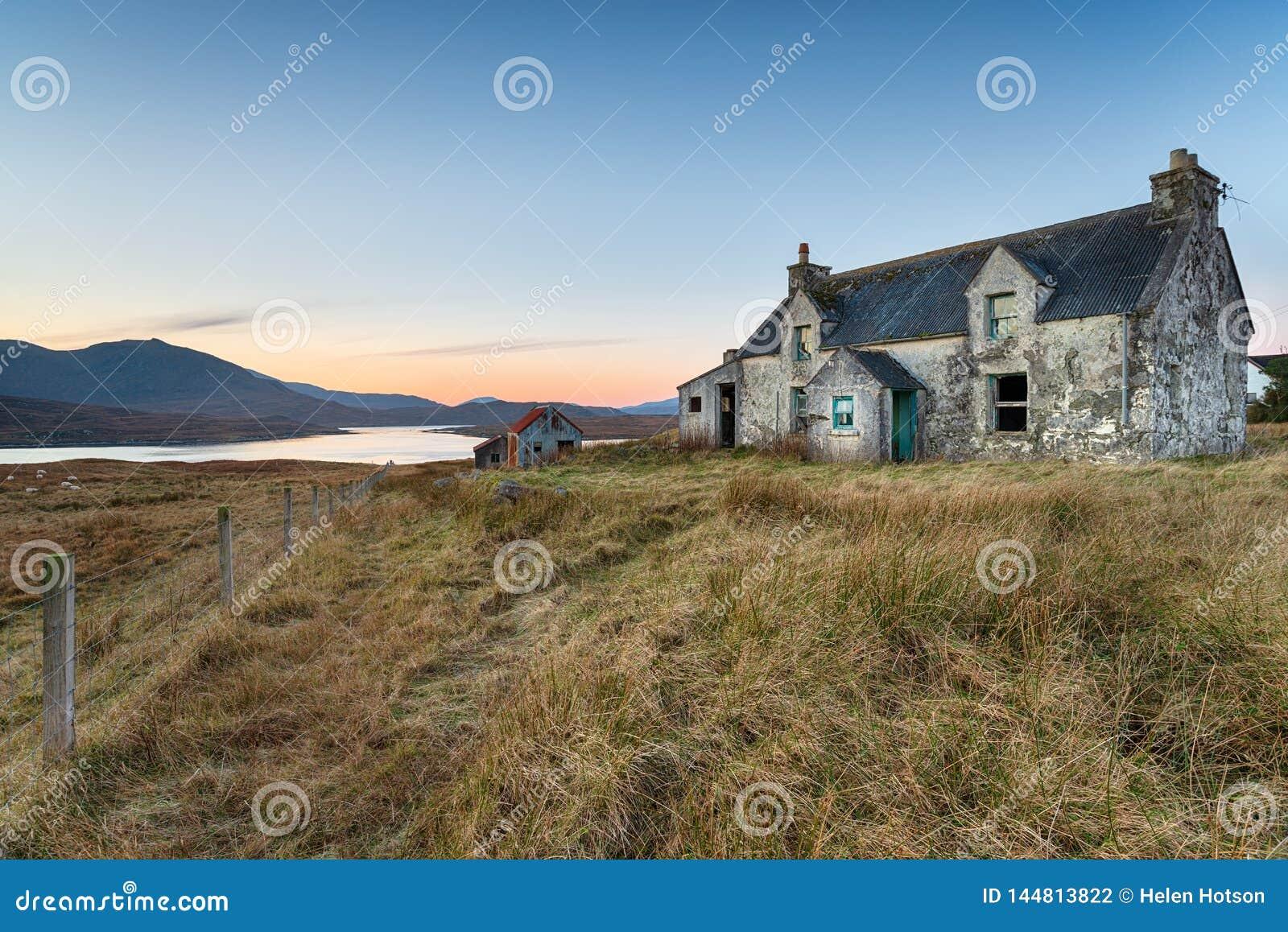 Haus auf der Insel von Lewis
