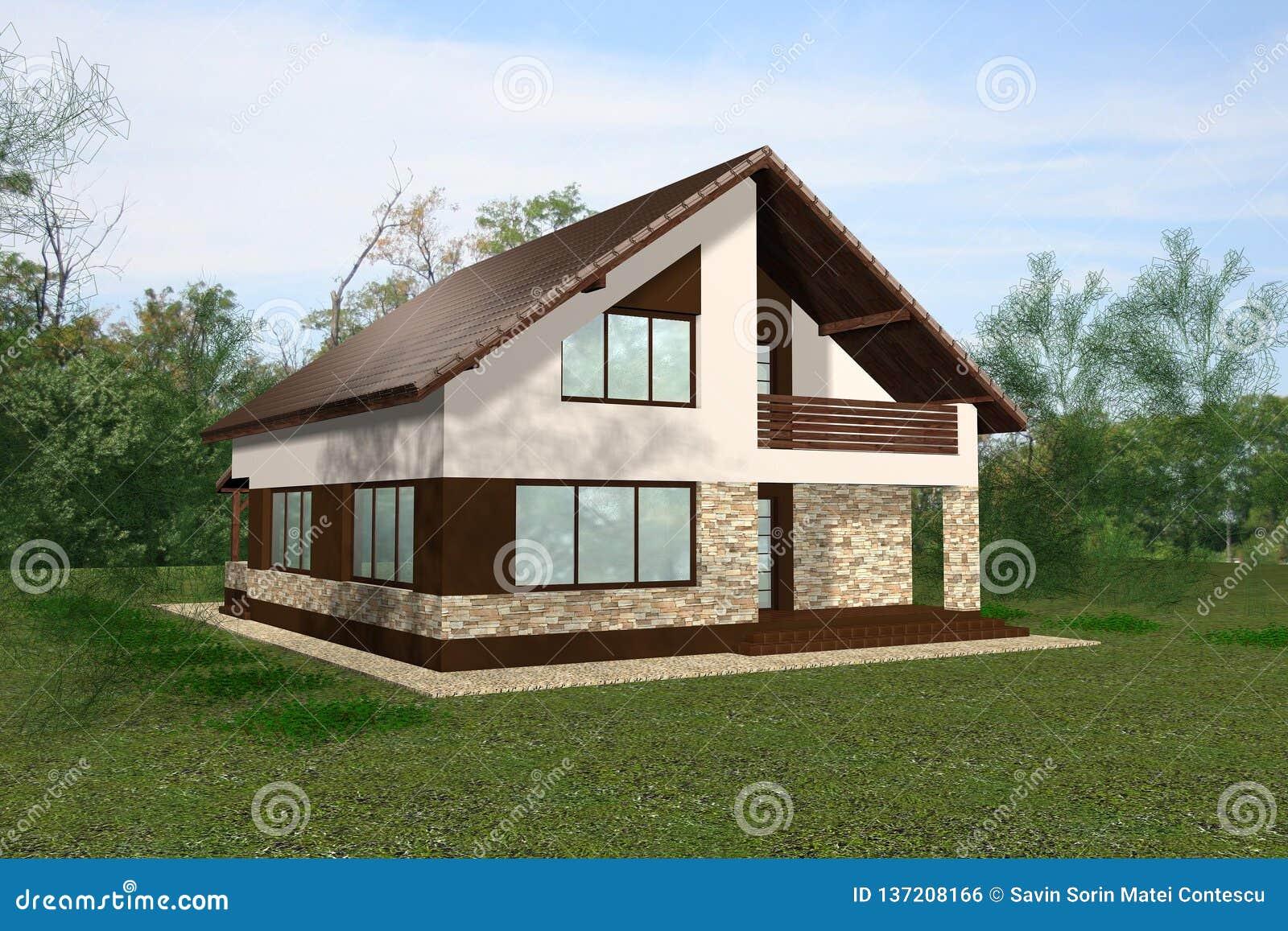 Haus 3D übertragen