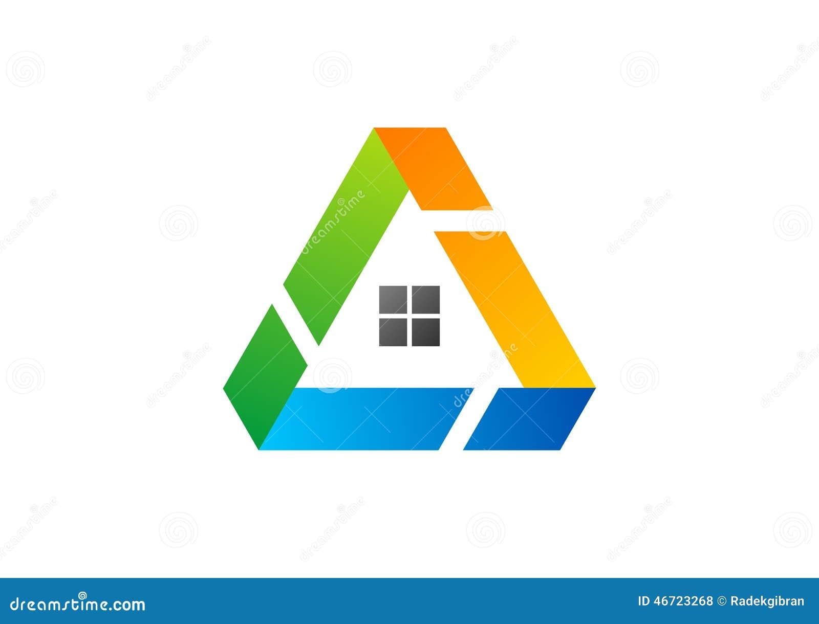 Haus, Dreieck, Logo, Gebäude, Architektur, Immobilien, Haus, Bau ...
