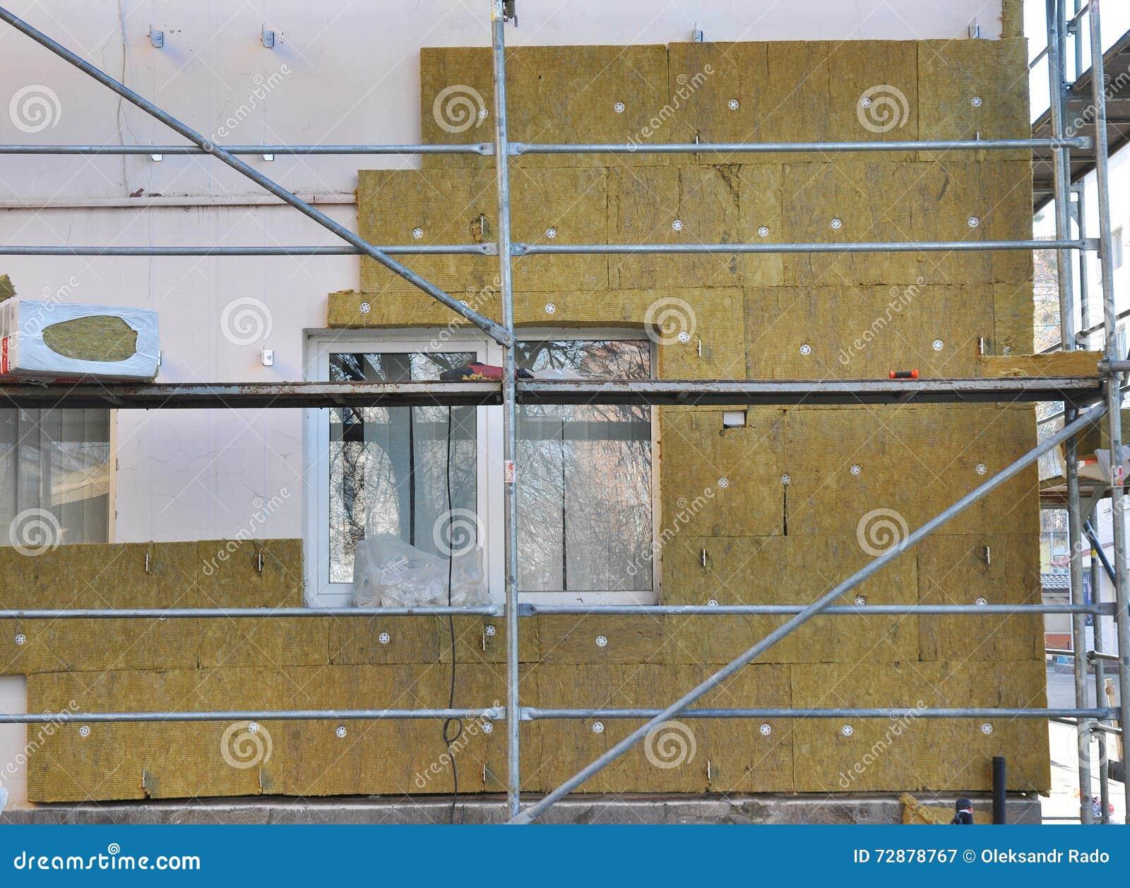 Haus Externe Wand Isolierung Mit Fiberglas Energiesparendes Konzept