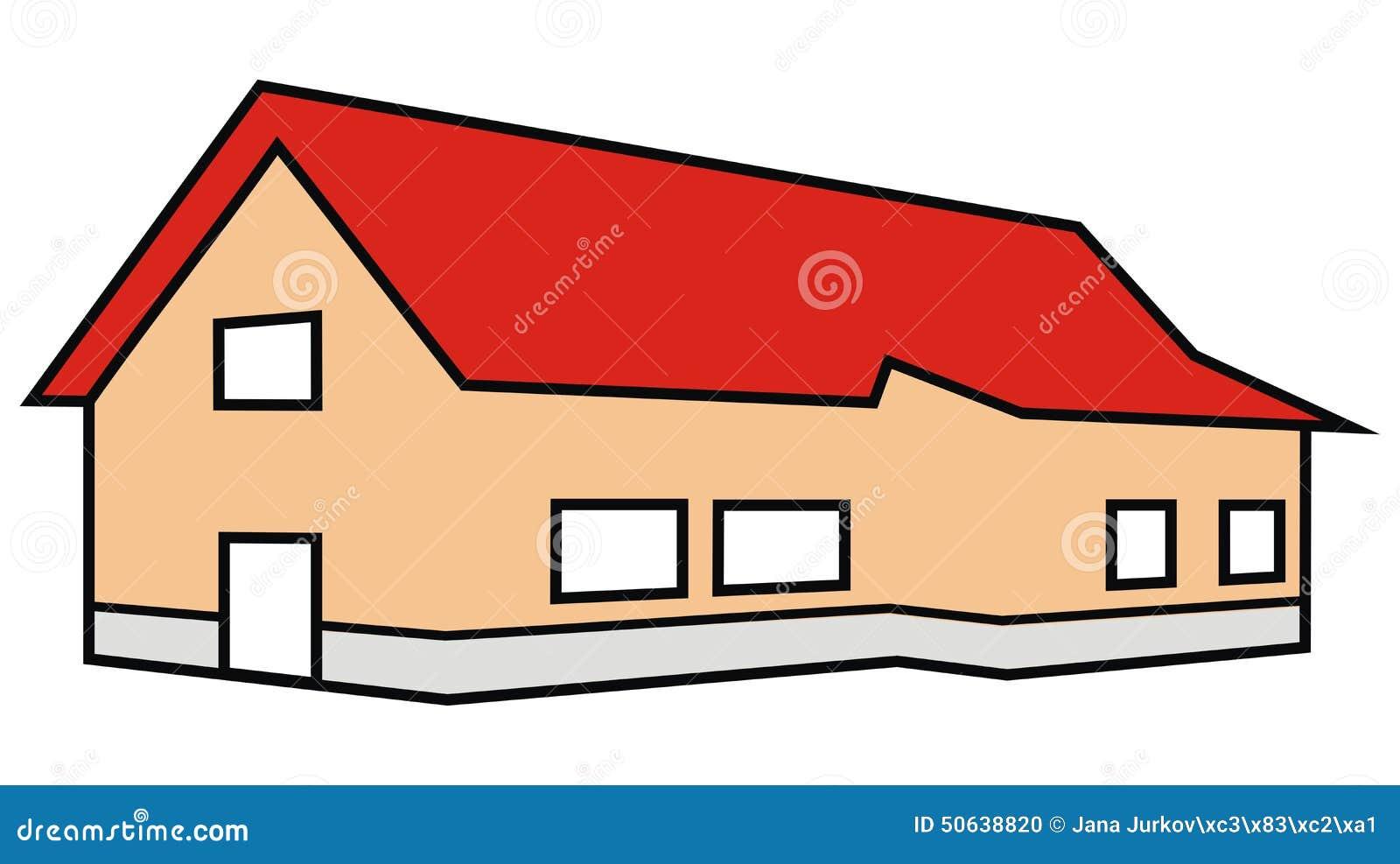haus farbe vektor abbildung bild von architektur geb ude 50638820. Black Bedroom Furniture Sets. Home Design Ideas