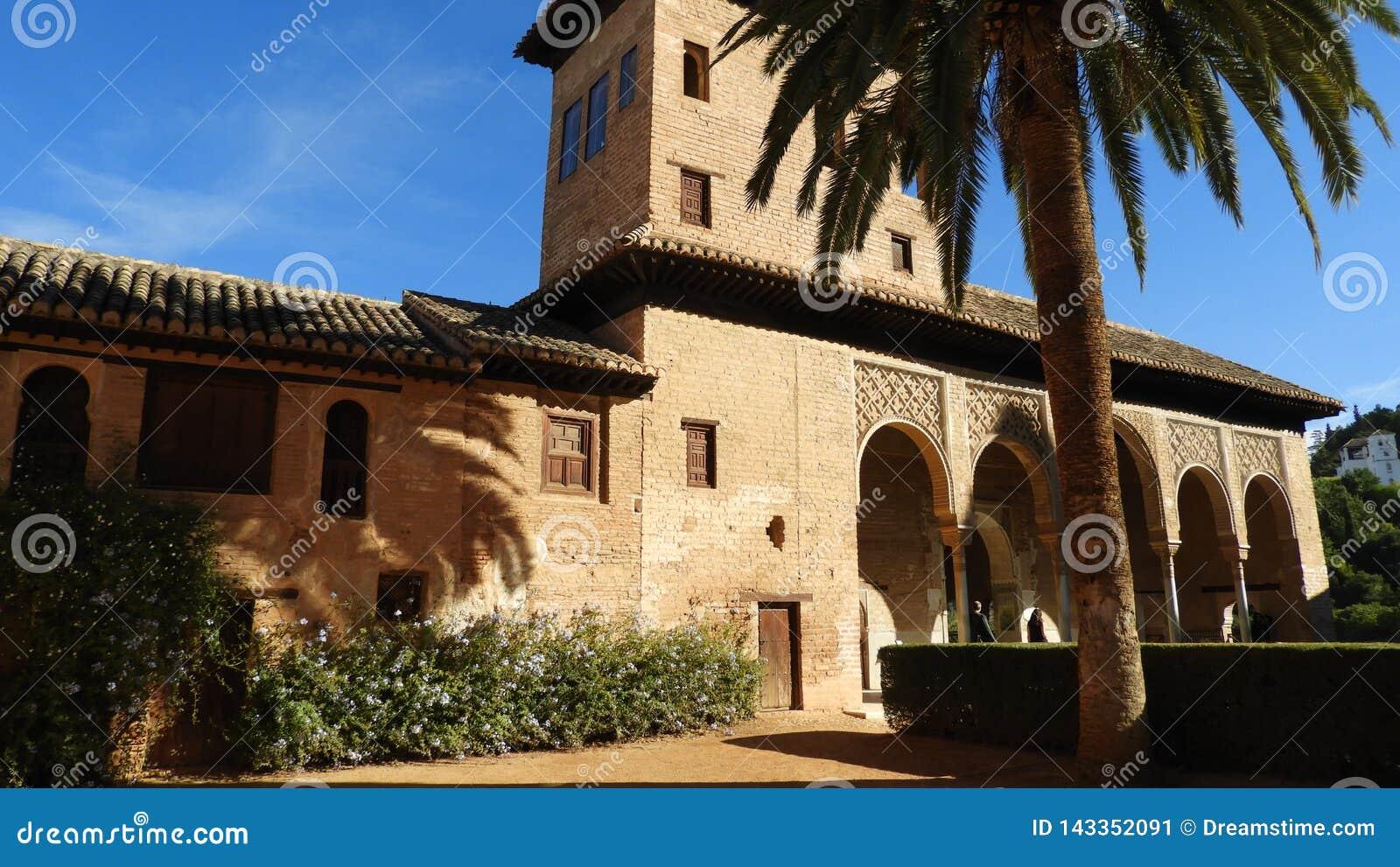 Haus im Alhambra, Granada, Andalusien, Spanien