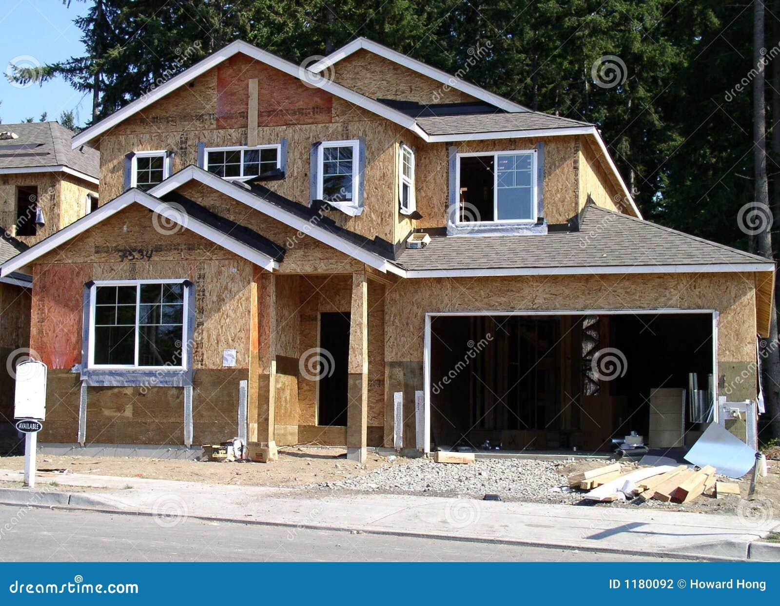 Haus im Aufbau