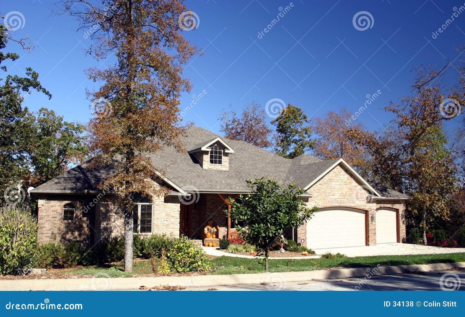 Haus im Fall