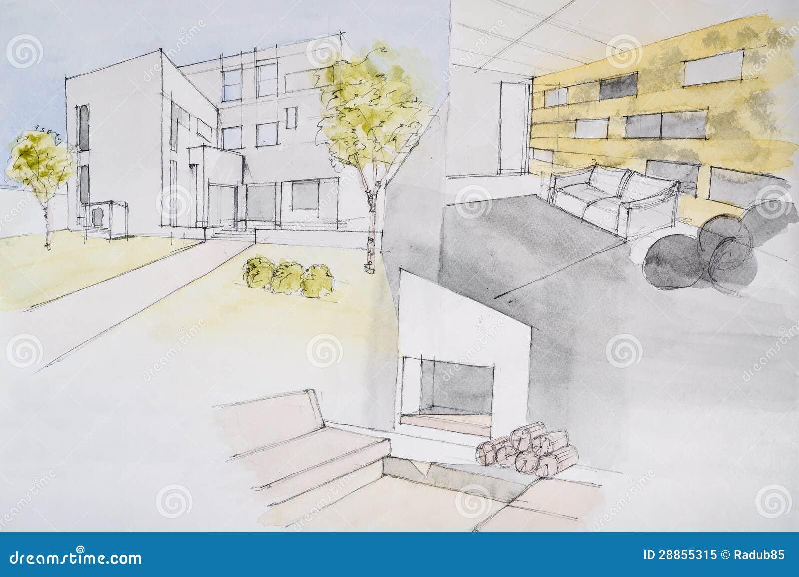 Haus-Malerei Lizenzfreies Stockfoto - Bild: 28855315