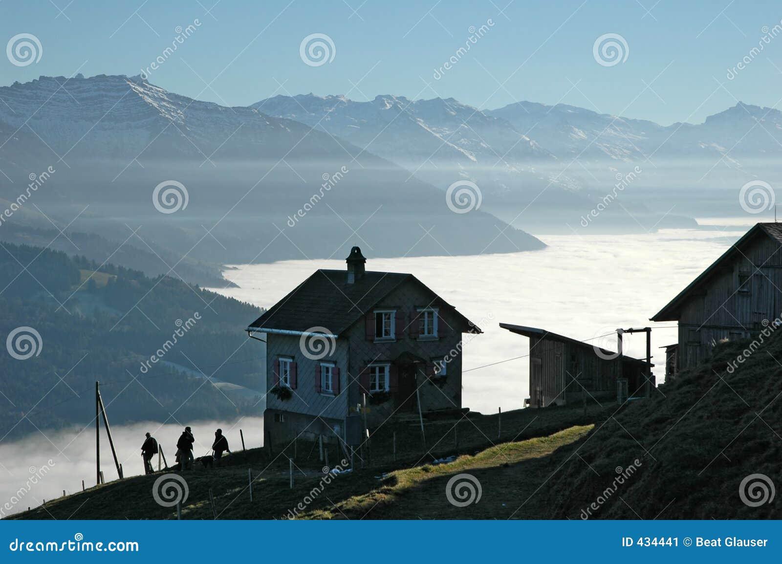 Haus mit einer Ansicht