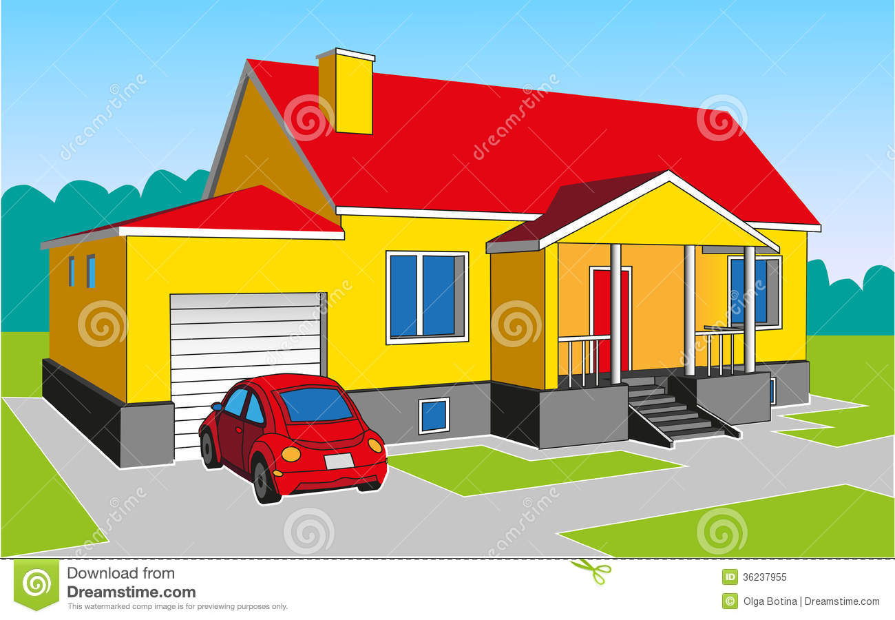 Car Parked In Front Of House