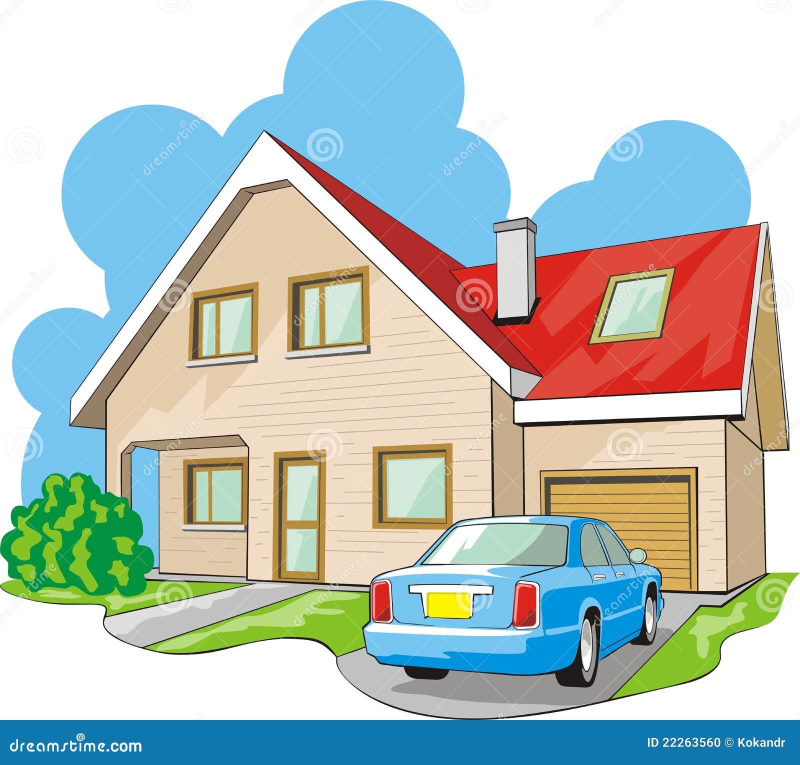 haus mit garage vektor abbildung bild von zustand hypothek 22263560. Black Bedroom Furniture Sets. Home Design Ideas
