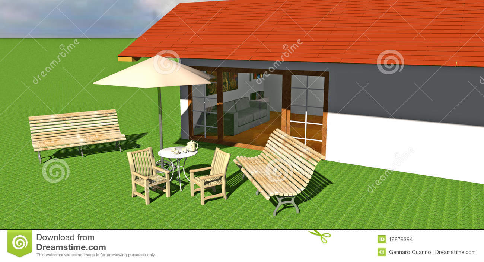 haus mit garten stock abbildung illustration von outdoor