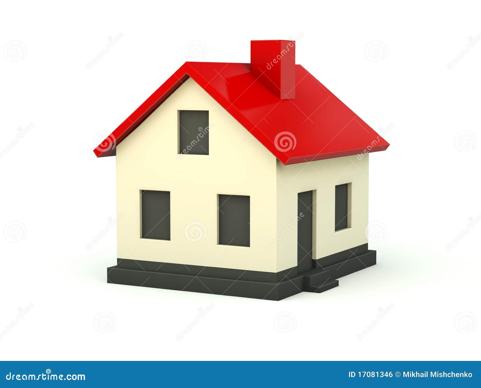 haus mit rotem dach stock abbildung illustration von zustand 17081346. Black Bedroom Furniture Sets. Home Design Ideas
