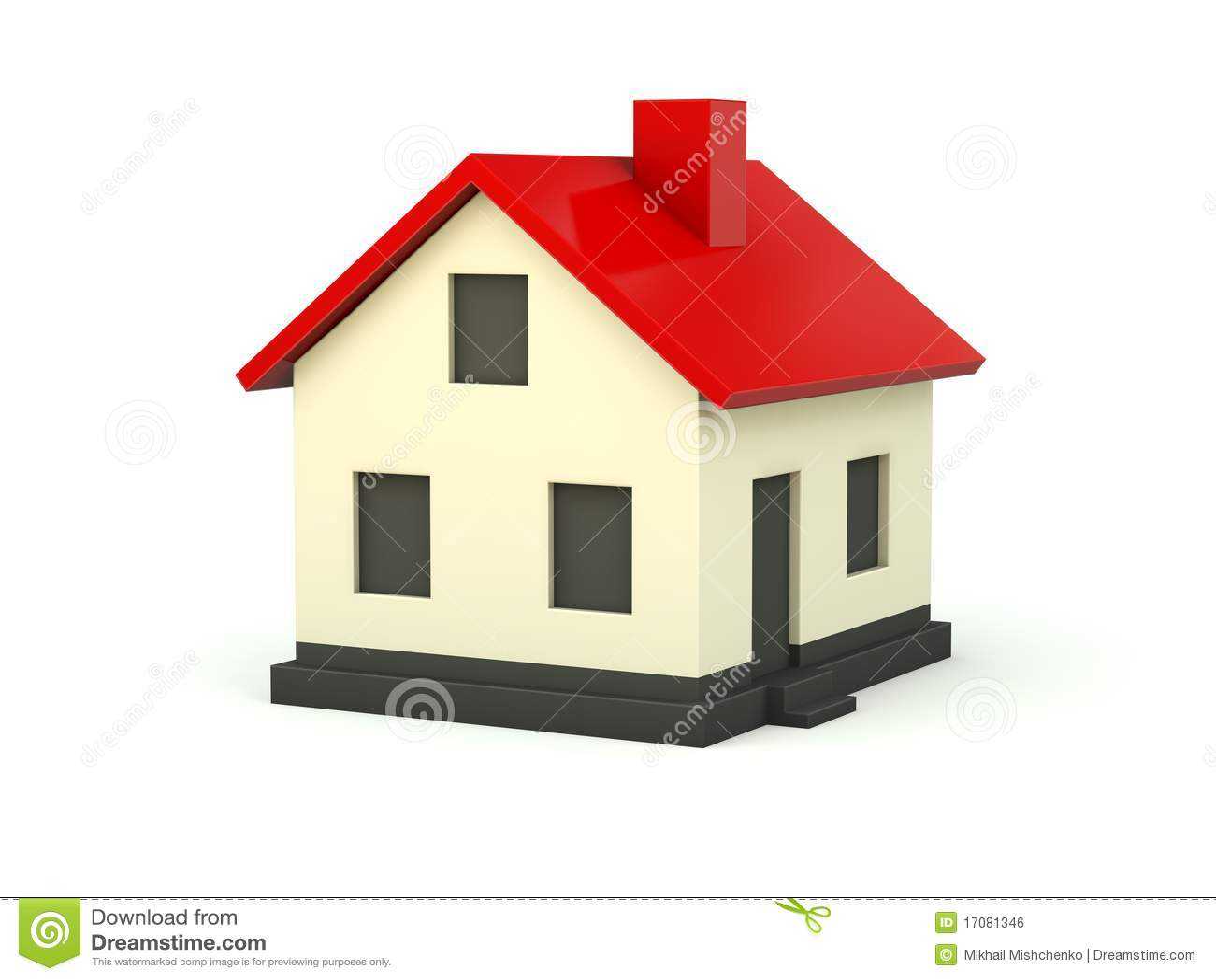 haus mit rotem dach lizenzfreies stockbild bild 17081346. Black Bedroom Furniture Sets. Home Design Ideas