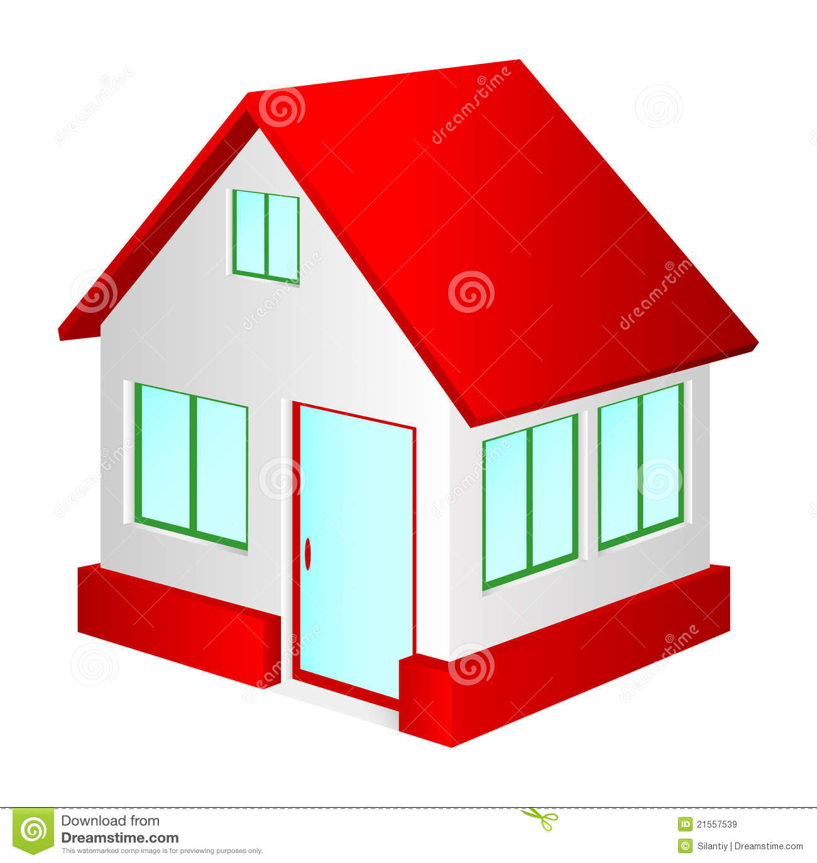 Haus mit rotem Dach. vektor abbildung. Illustration von zustand ...