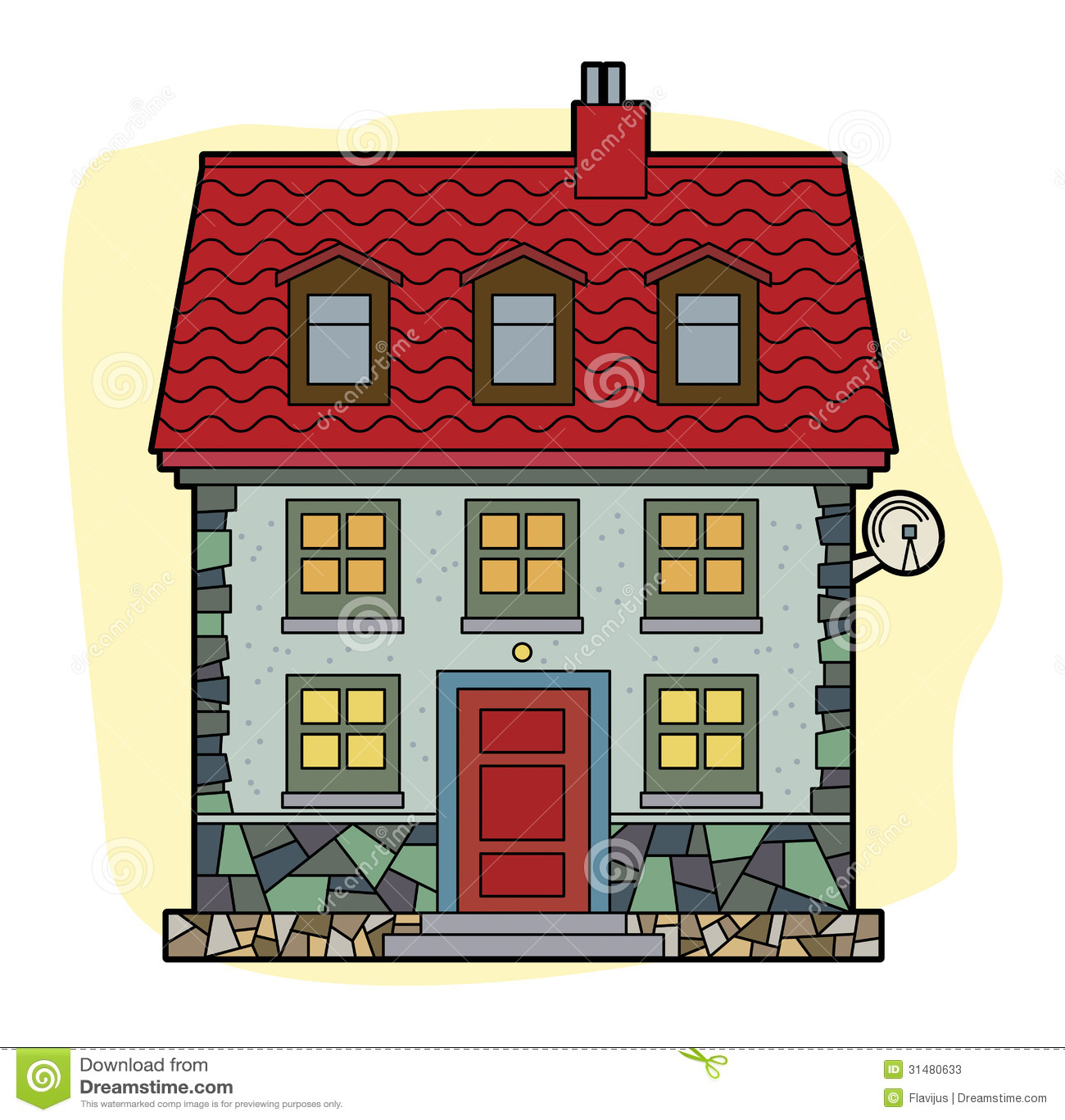 Haus mit rotem dach stockfotos bild 31480633 for Modernes haus mit rotem dach
