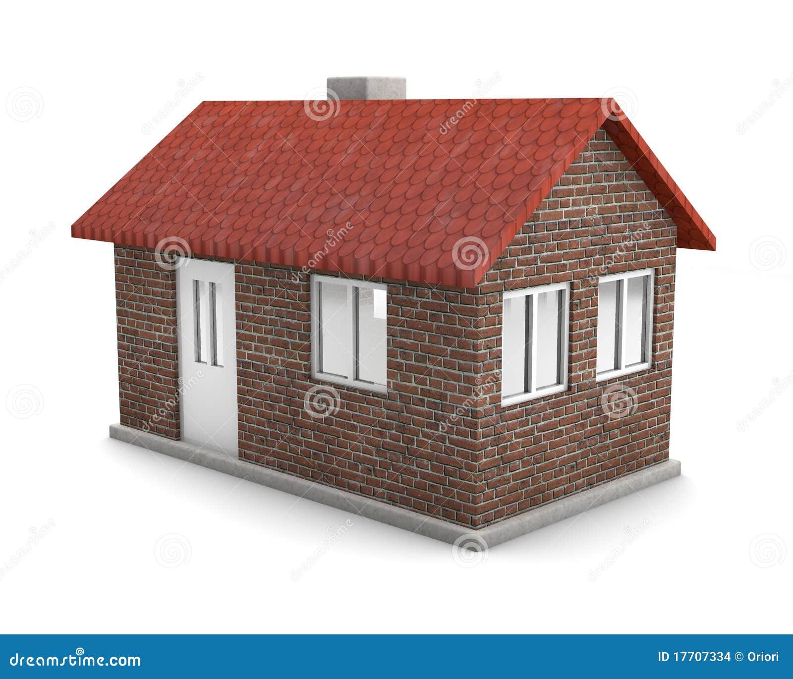 Haus mit Ziegelstein