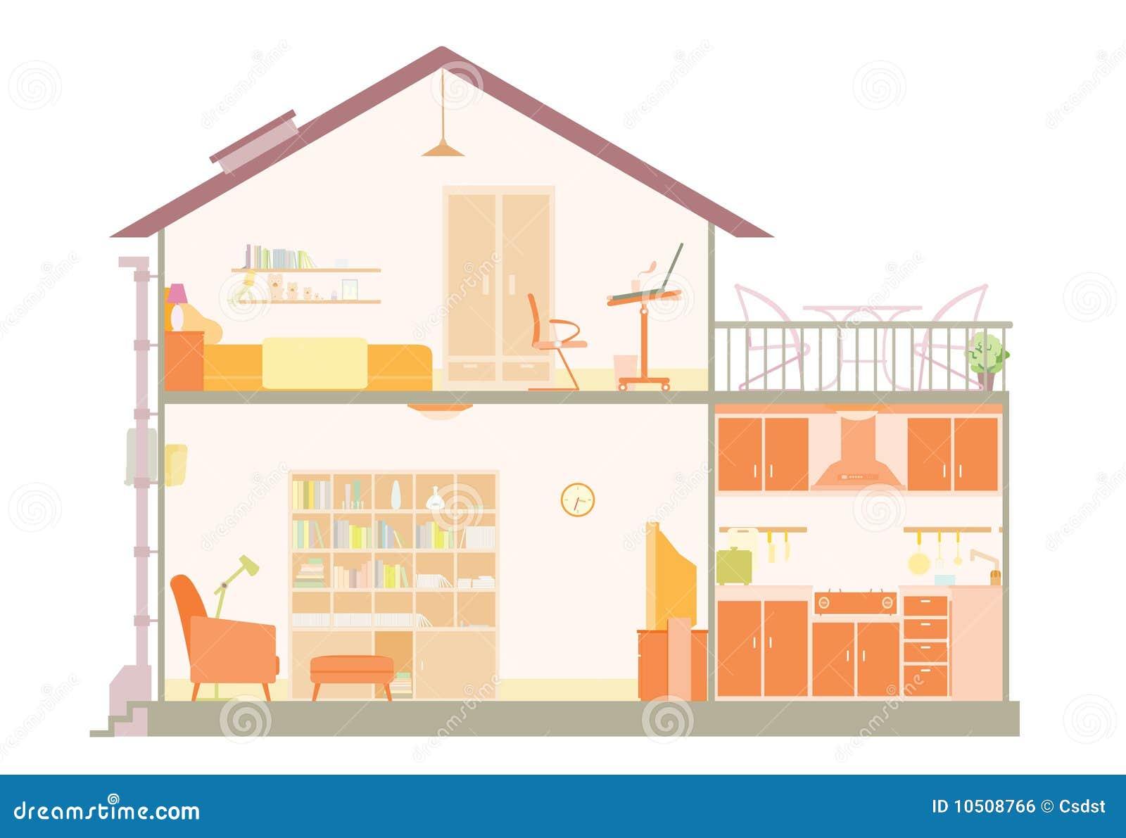 Haus plan lizenzfreies stockbild bild 10508766 for Haus plan