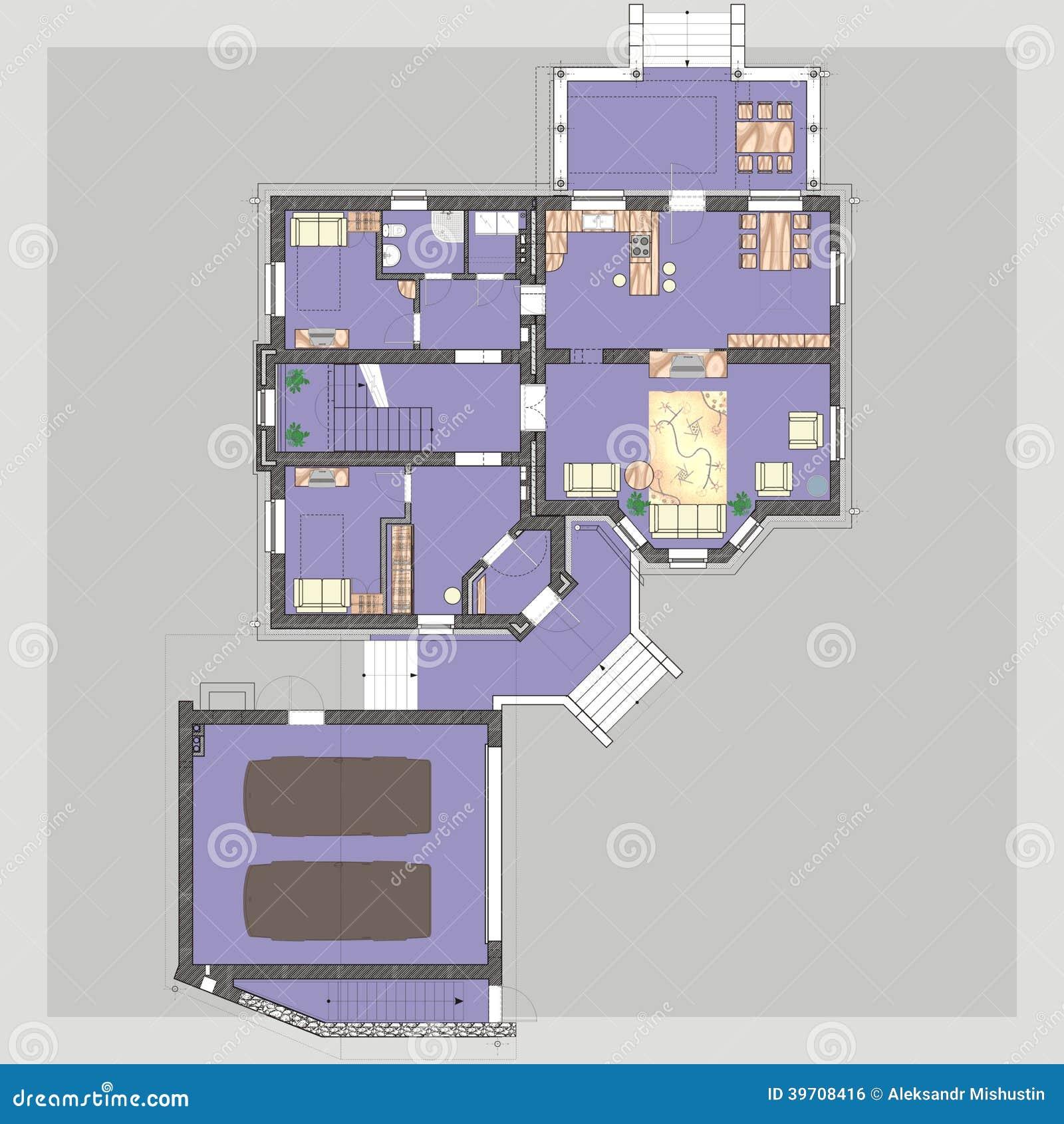 Haus plan stock abbildung bild 39708416 for Haus plan