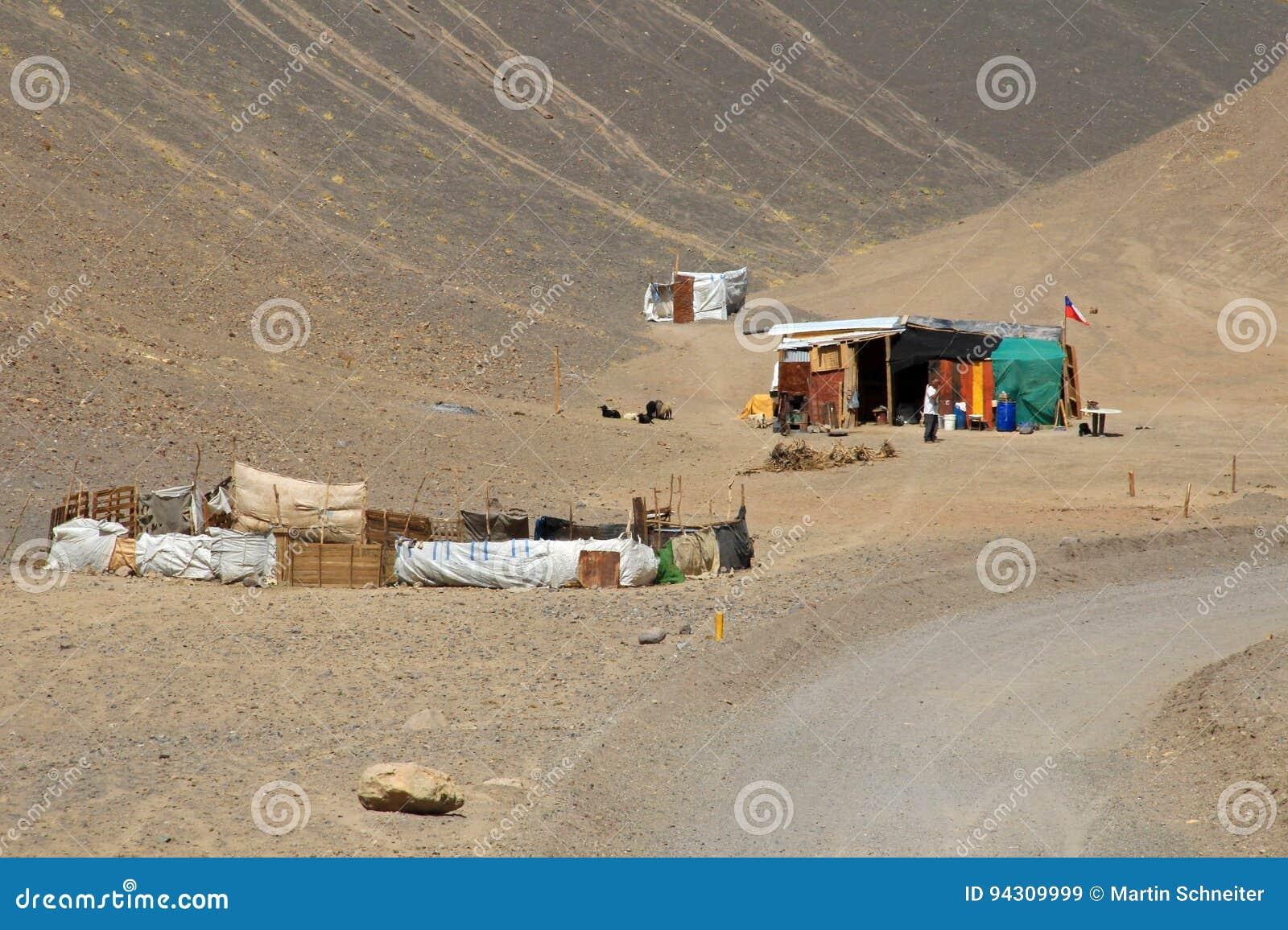 Haus Und Landschaft Des Weges 6000, Atacama Wüste, Chile