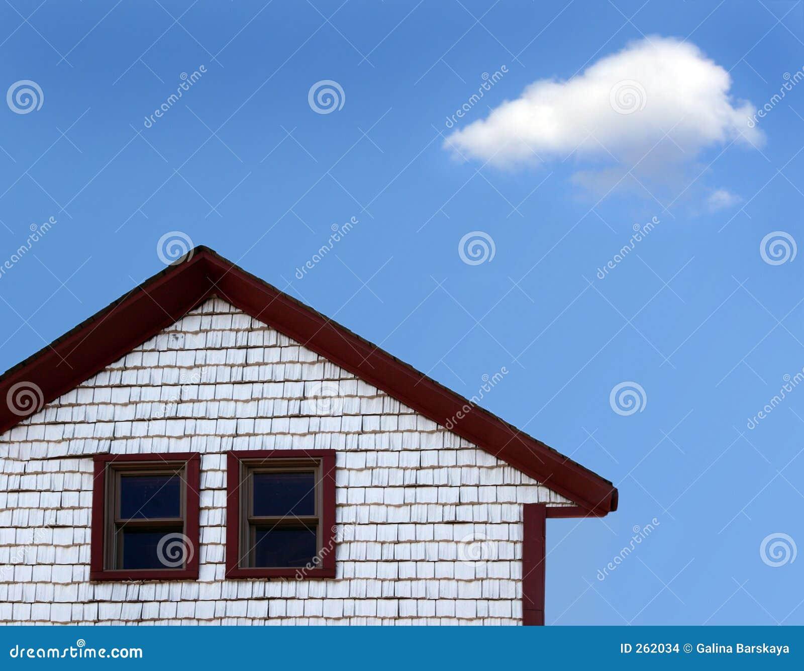 Haus und Wolke