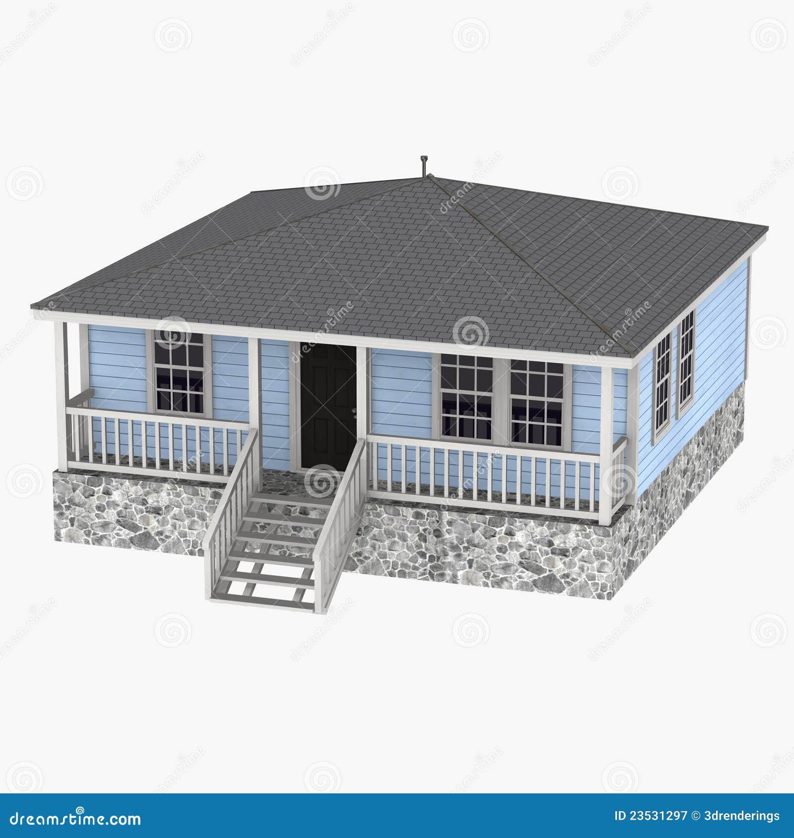 Haus Us Stil Stock Abbildung Illustration Von Stadtisch 23531297