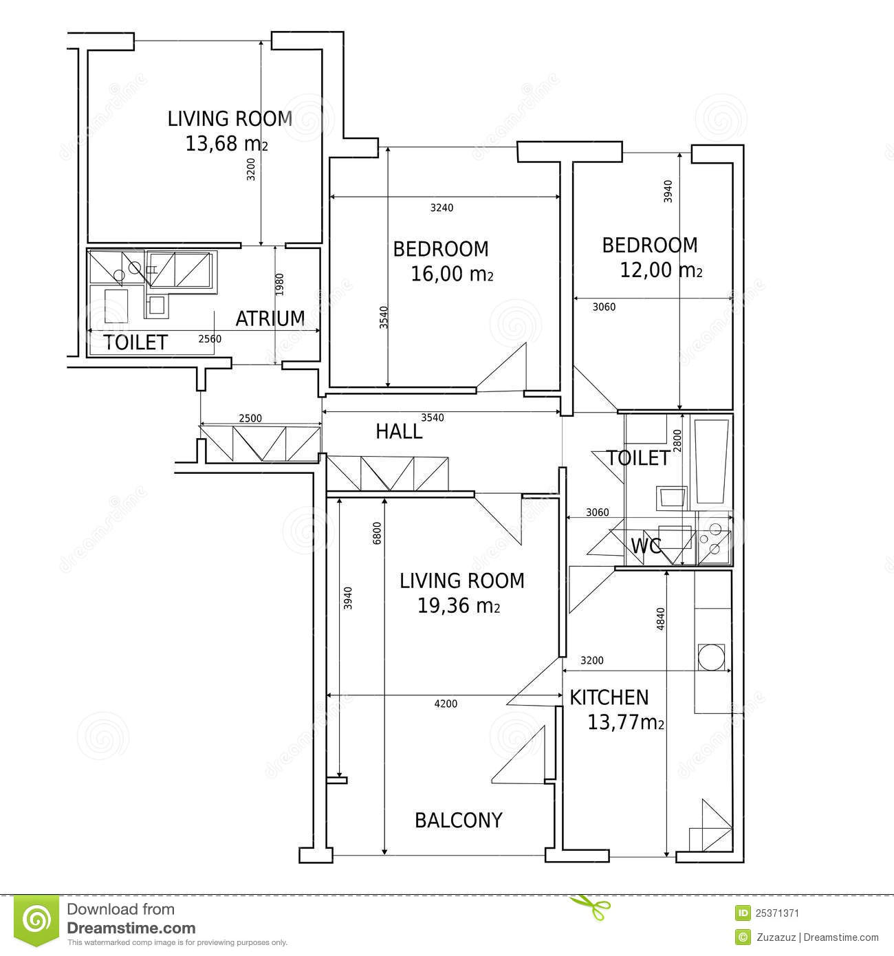 Hause plan of drawing building stock image image 25371371 - Build house plans online free concept ...
